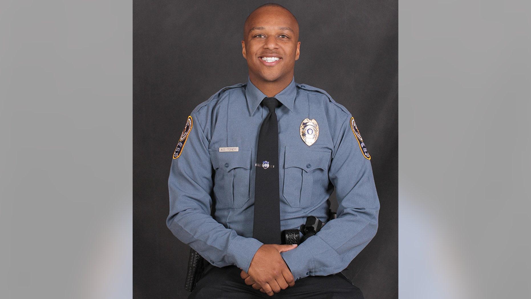 Officer Antwan Toney of the Gwinnett County Police Department.
