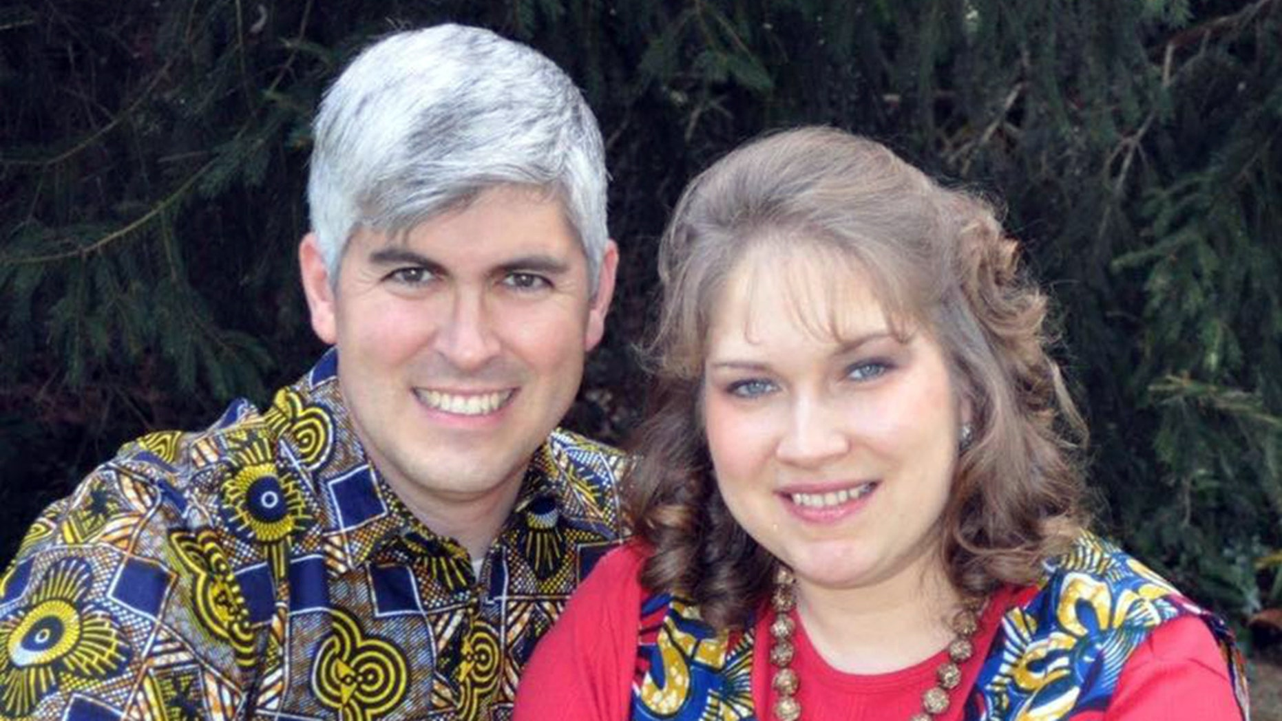 Charles Trumann Wesco, a missionary from Indiana (pictured with his wife Stephanie), died in northwestern Cameroon after being shot in the head Tuesday amid fighting between armed separatists and soldiers. (Facebook)