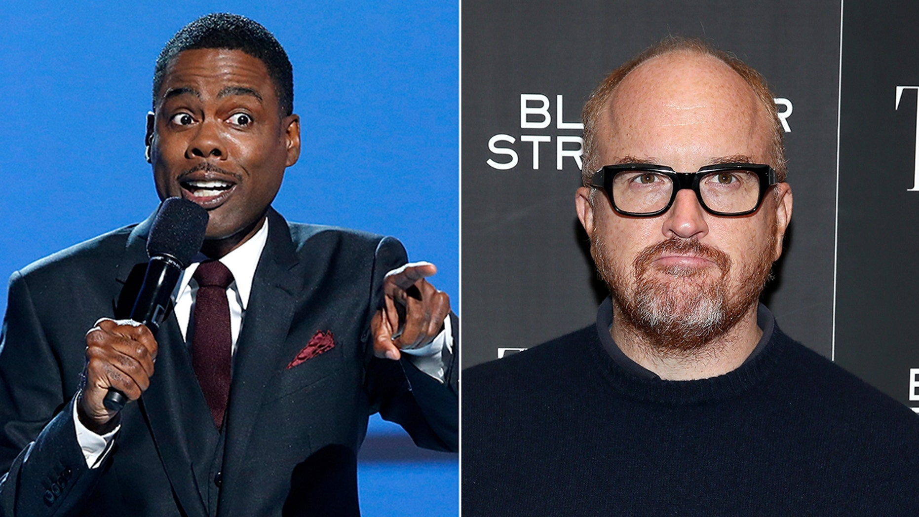 Chris Rock,left, showed up to support fellow comedian Louis C.K. during his recent performance on October 24, 2018.