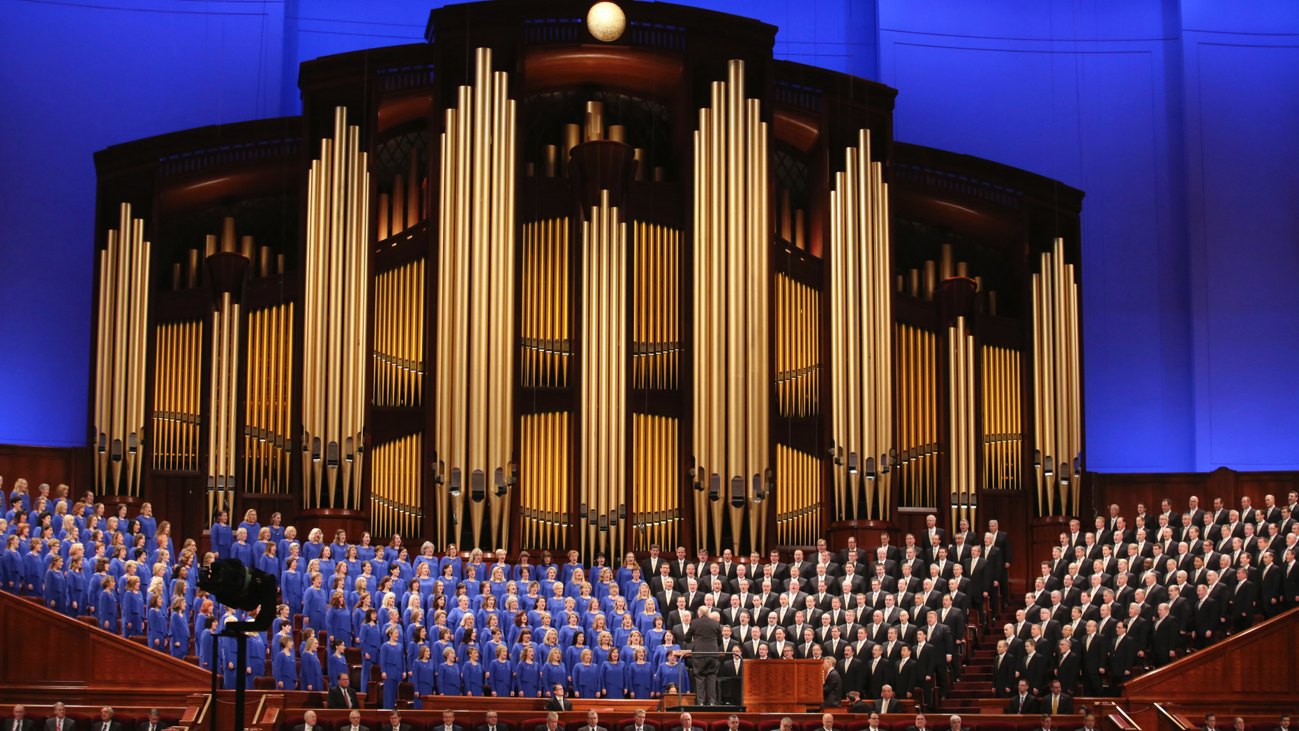 "FILE - In this March 31, 2018, file photo, The Mormon Tabernacle Choir perform during the twice-annual conference of The Church of Jesus Christ of Latter-day Saints, in Salt Lake City. The well-known Mormon Tabernacle Choir was renamed Friday, Oct. 5, 2018, to strip out the word Mormon in a move showing the faith's new president is serious about ending shorthand names for the religion that have been used for generations by church members and previously promoted by the church. The gospel singing group will now be called ""The Tabernacle Choir at Temple Square,"" The Church of Jesus Christ of Latter-day Saints said in a statement. (AP Photo/Rick Bowmer, File)"