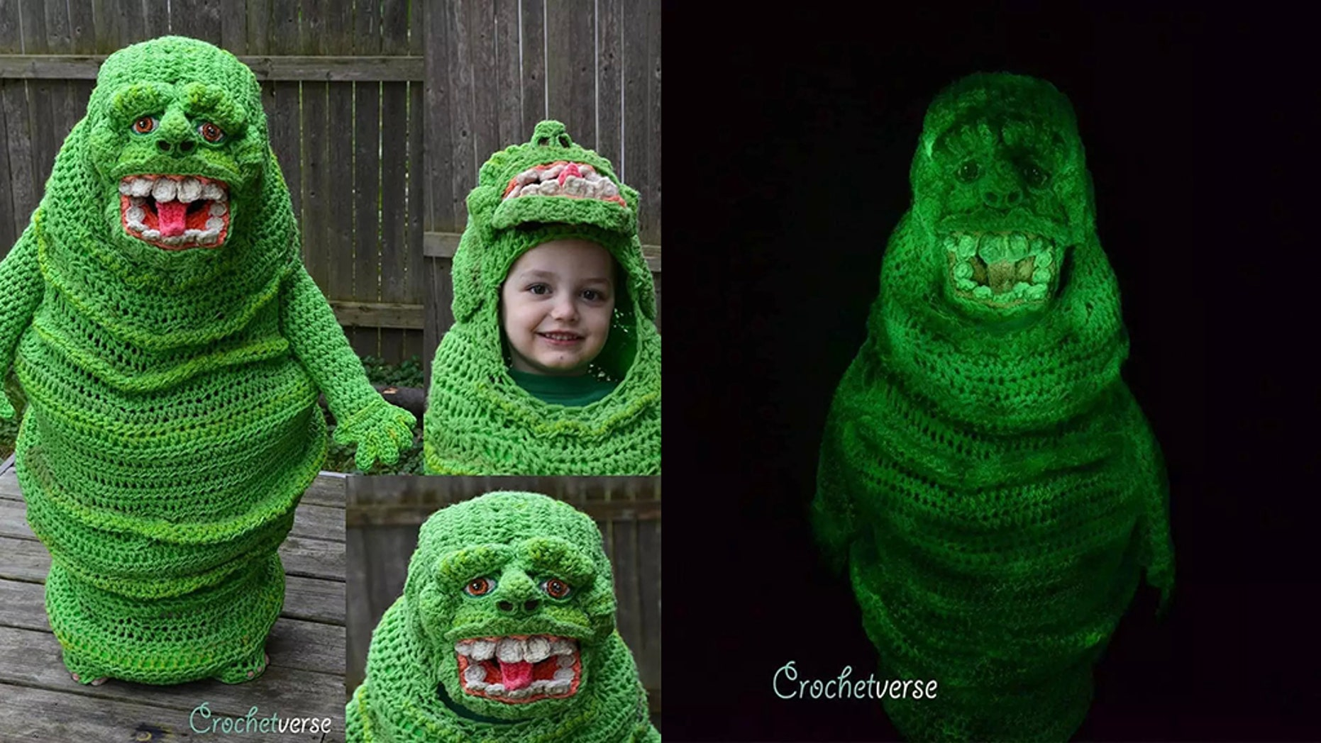 A woman has gone viral for her intricate children's costumes.