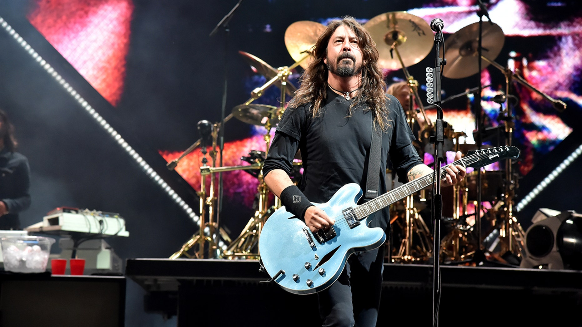 The leader of the Foo Fighters, Dave Grohl, acted.