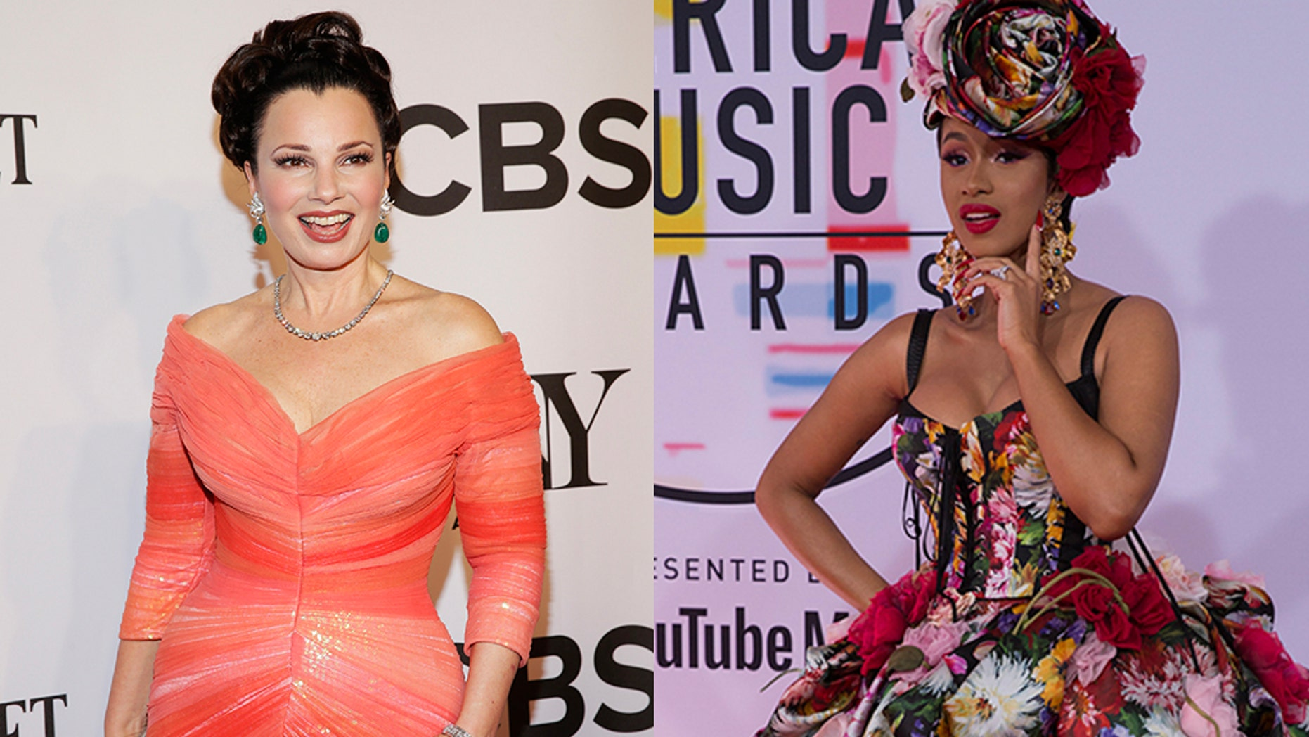 """The Nanny"" star Fran Drescher (left) and rapper Cardi B (right)."