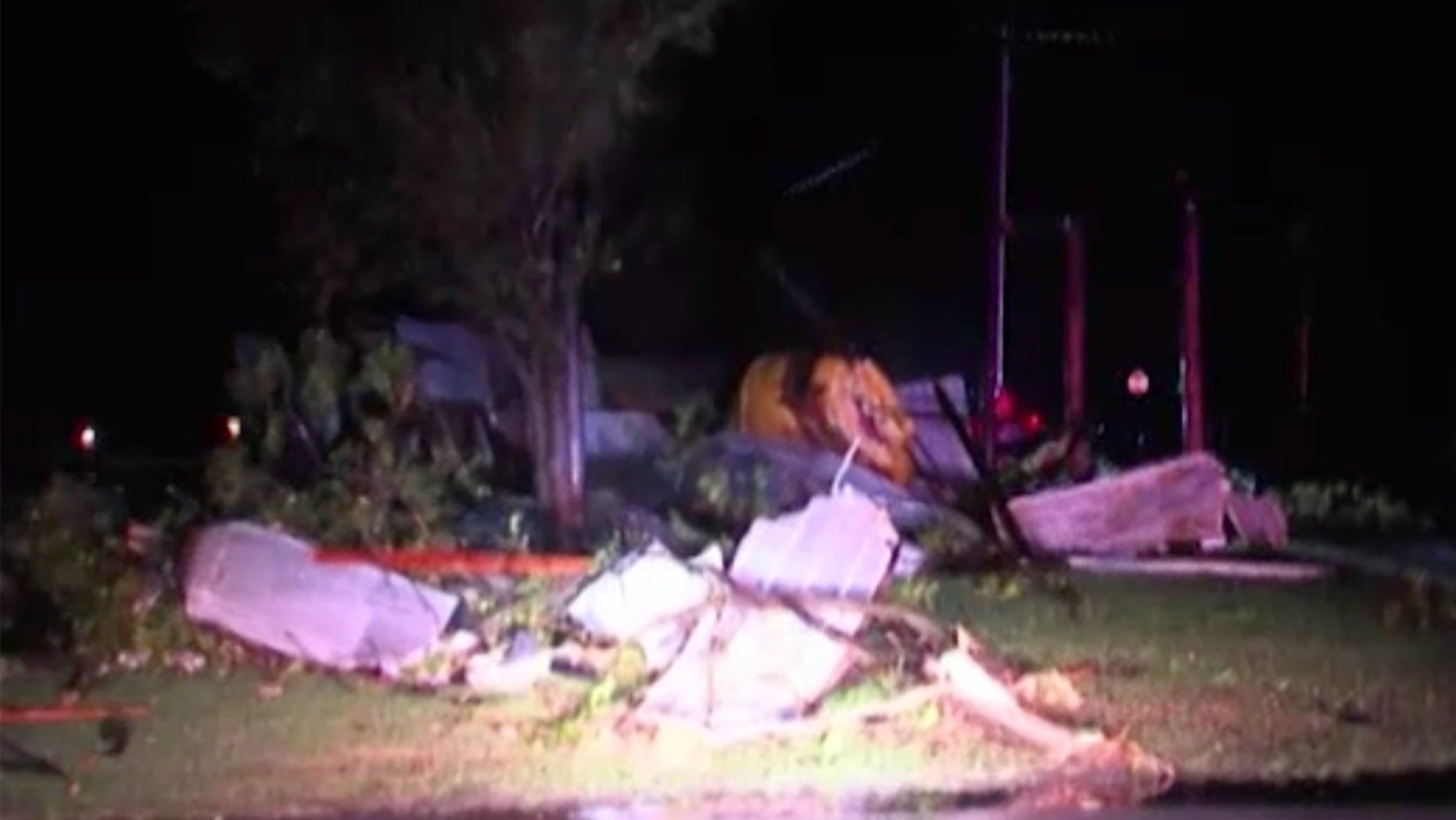Six small tornadoes were reported in Oklahoma and Texas Sunday night.