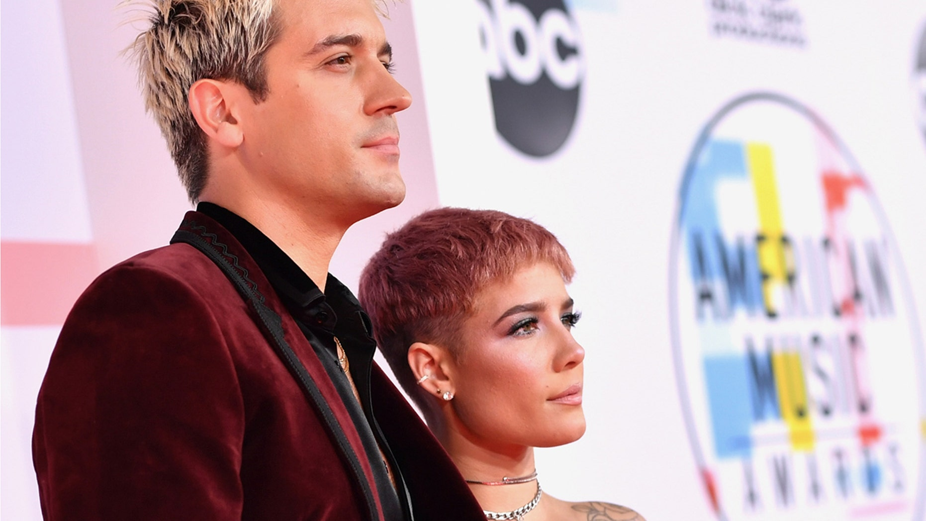 G-Eazy and Halsey, pictured here at the 2018 American Music Awards on October 9 in Los Angeles, Calif., have reportedly called it quits again, according to People.