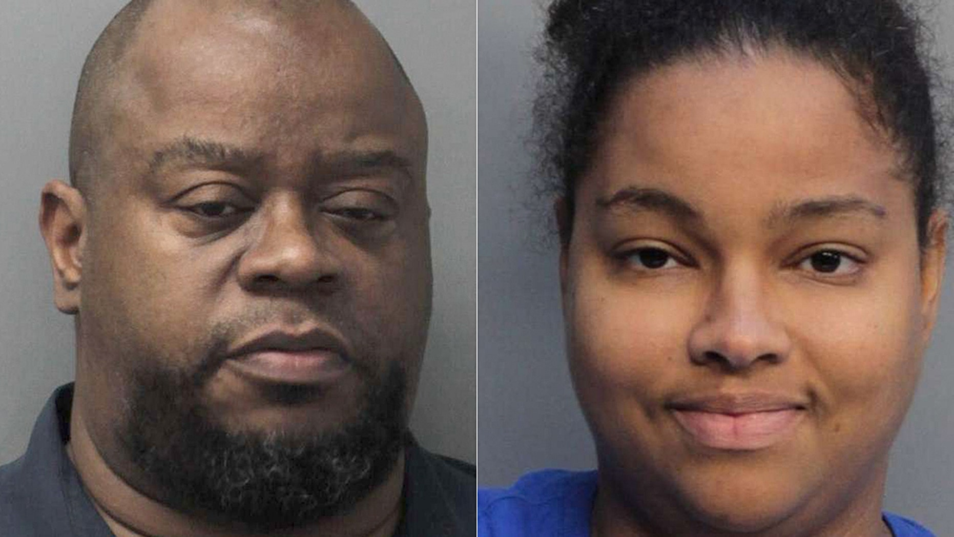 A Miami-Dade correctional officer and his wife were arrested for allegedly smuggling fast food and a cell phone into the jail for inmates, police said.