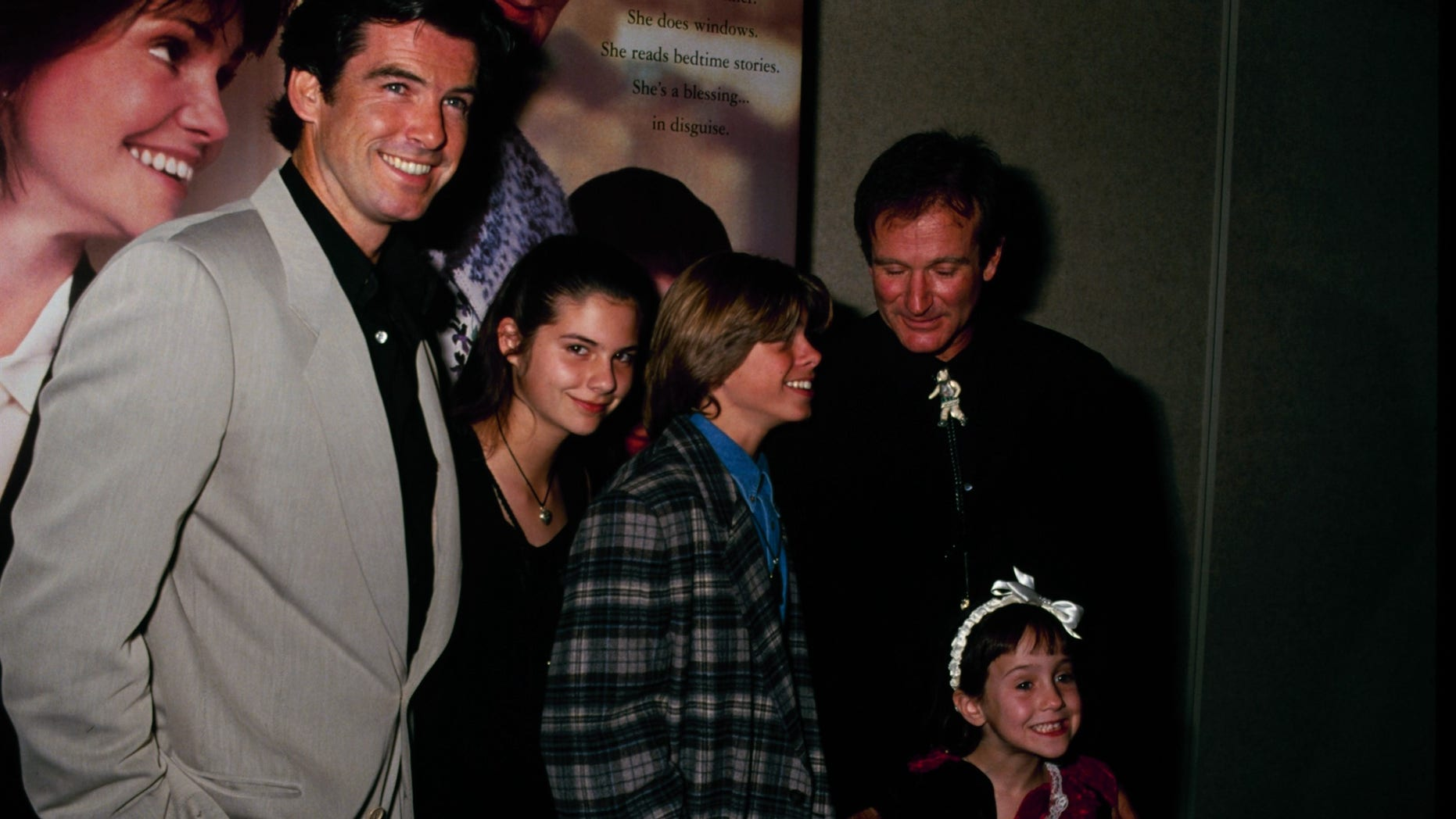 """Pierce Brosnan reunited with some of his """"Mrs. Doubtfire"""" co-stars 25 years after the film was released."""