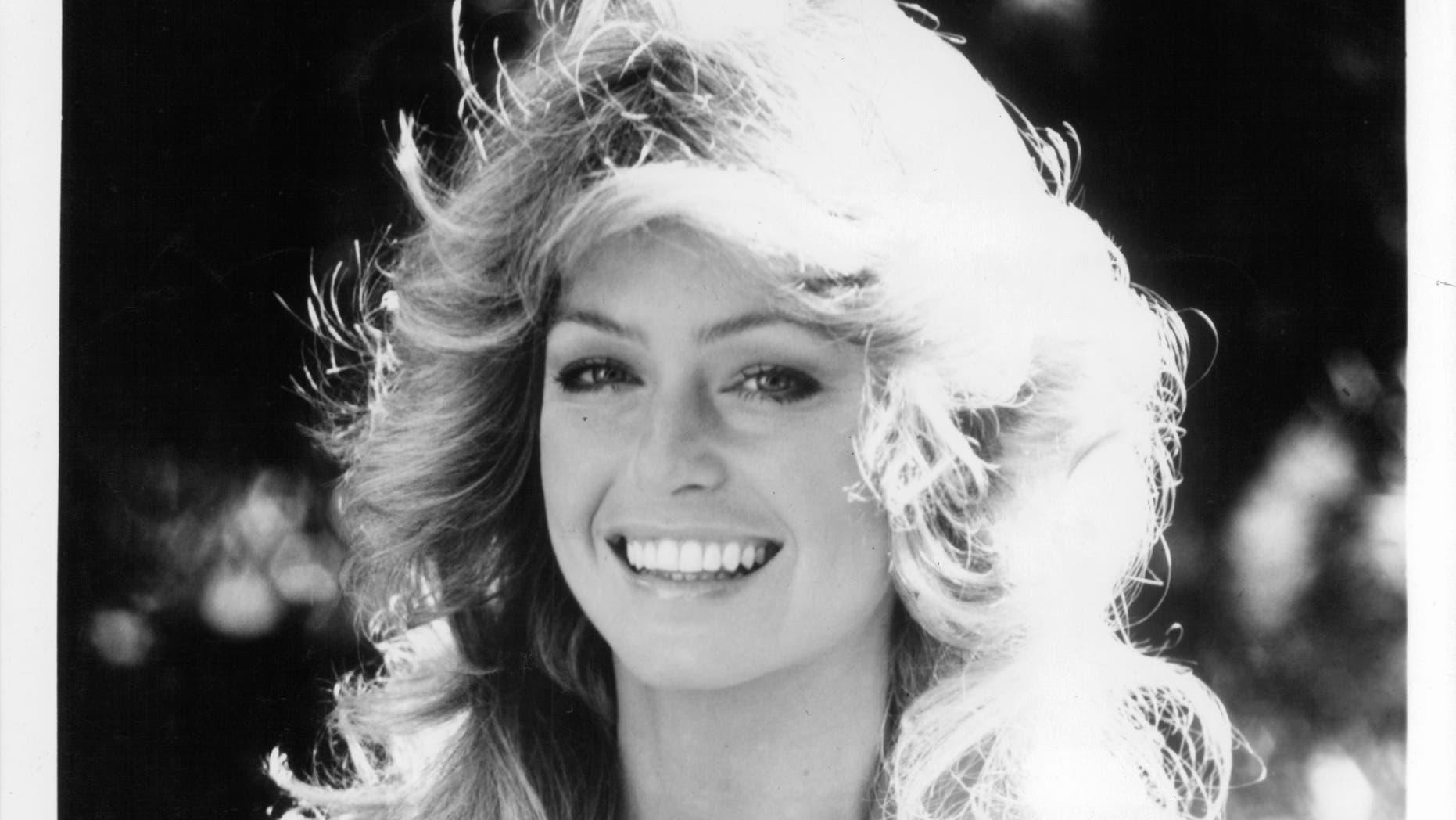Farrah Fawcett, circa 1975.