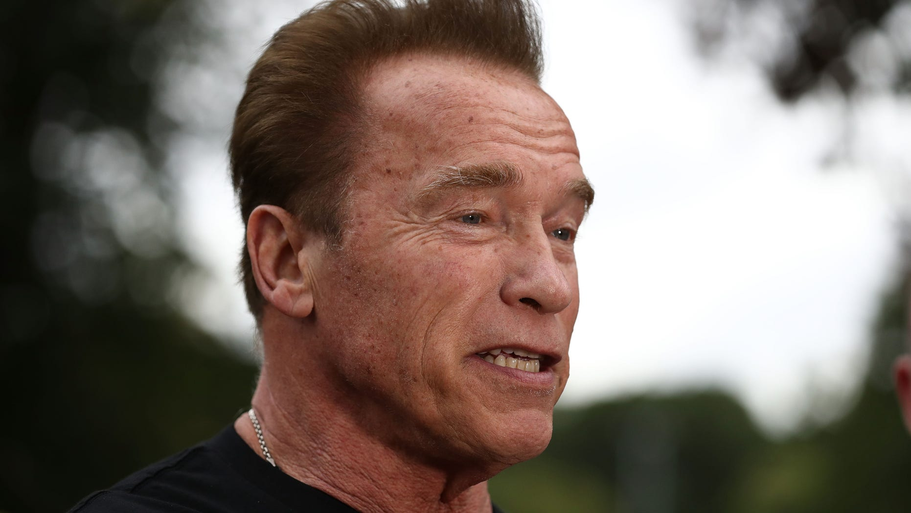 """Arnold Schwarzenegger said he's """"stepped over the line several times"""" with women in the past."""