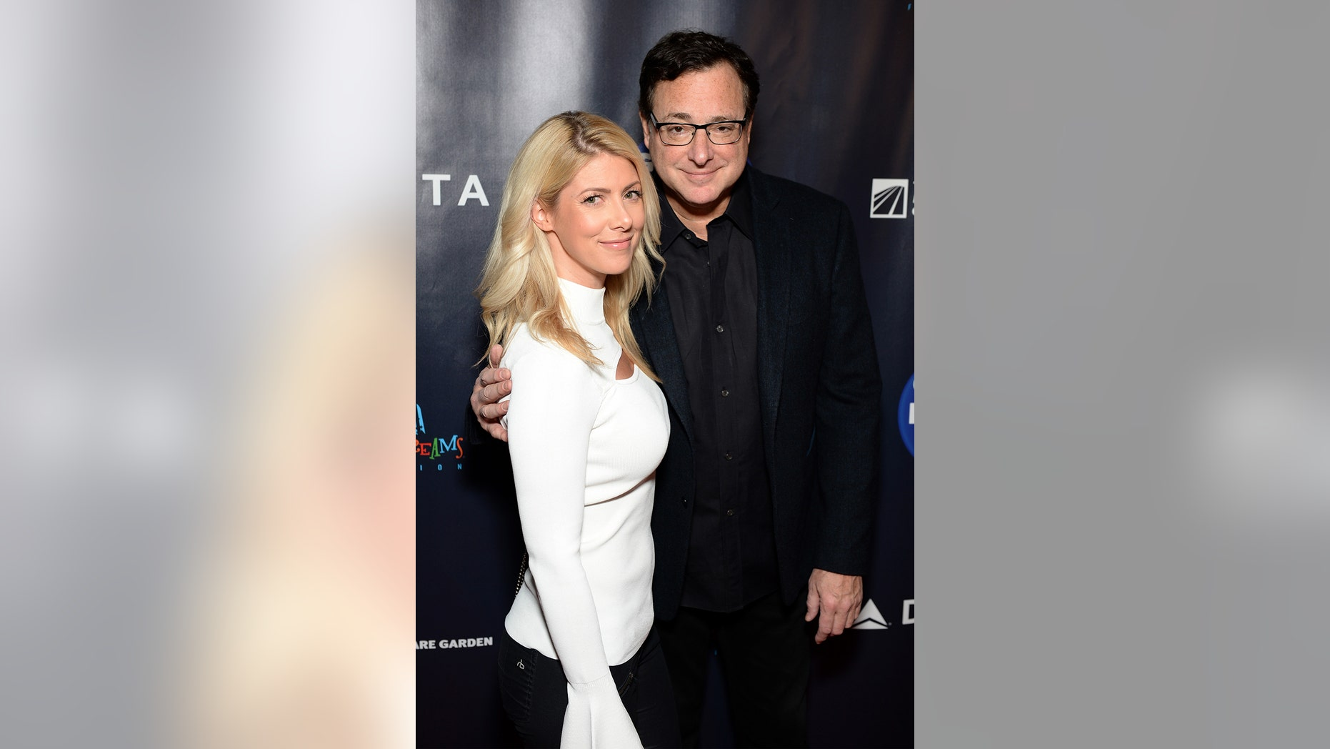 Kelly Rizzo and Bob Saget attend the 2017 Garden of Laughs at Madison Square Garden on March 28, 2017 in New York City.