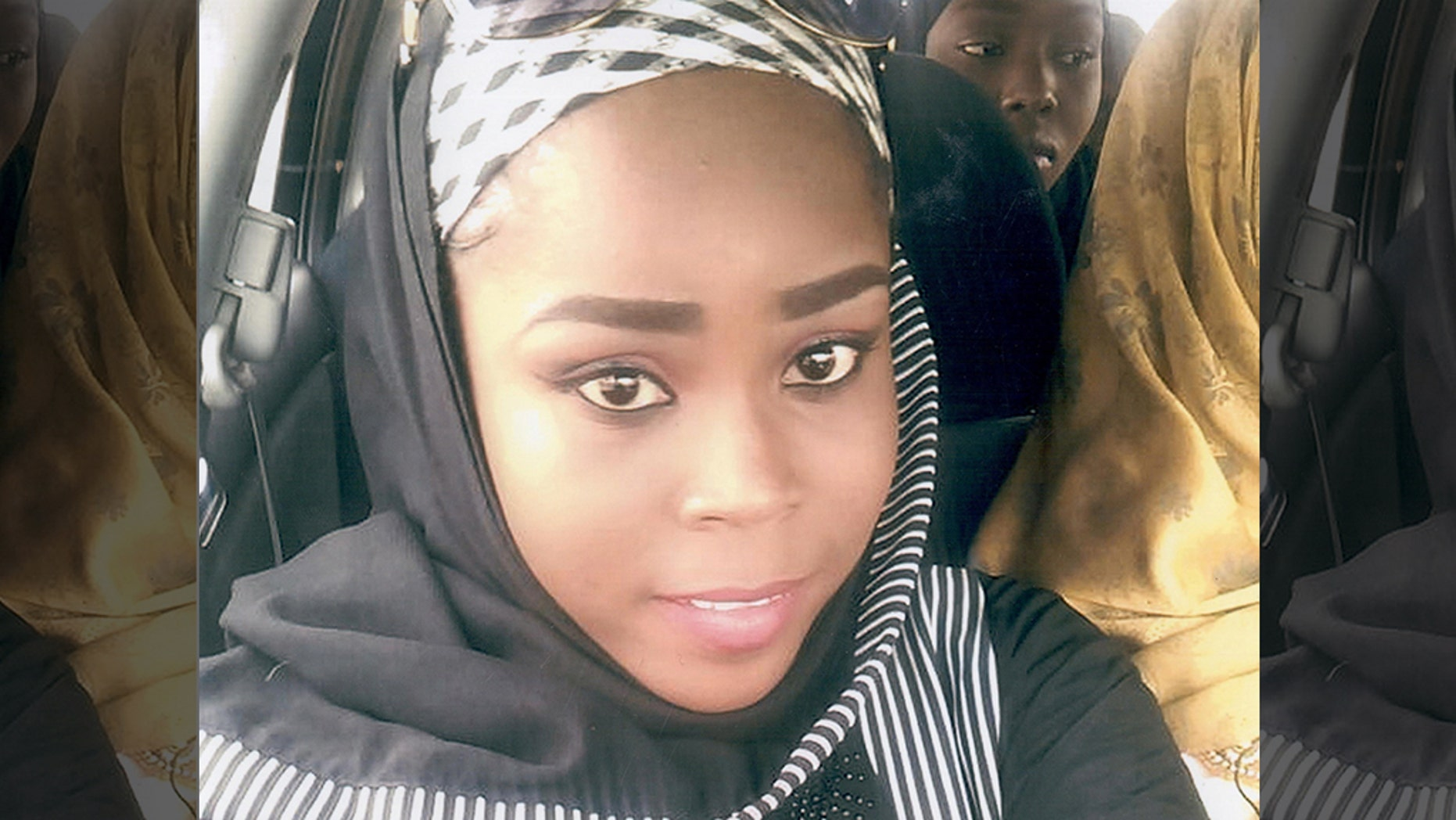Medical worker Hauwa Mohammed Liman, who was held hostage by Islamic State in Nigeria since March, is pictured in this handout photograph.