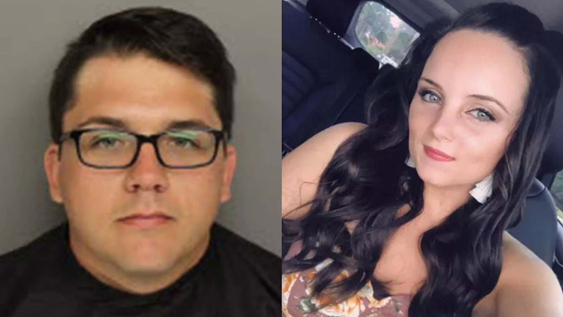 Seth Fluery, left, was sentenced to 12 years in prison last week for biting Kayla Hayes' bottom lip off.