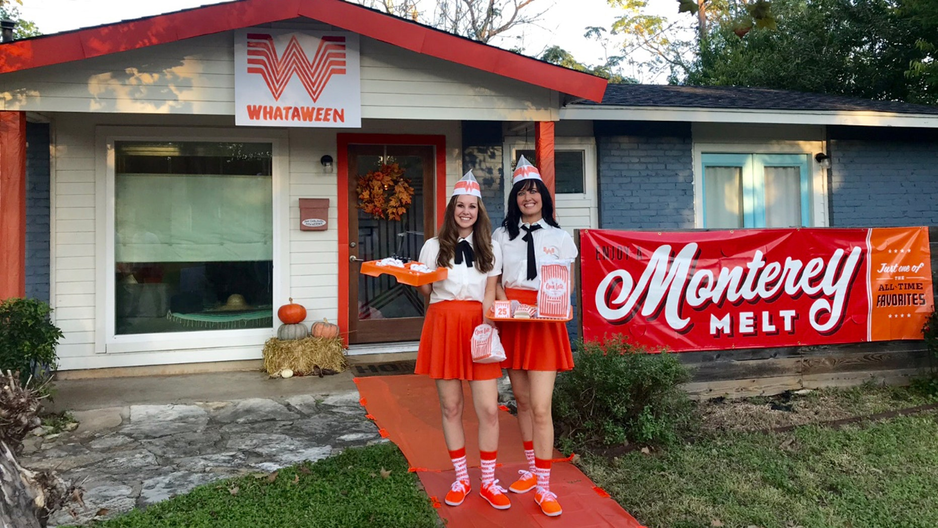 A Whataburger-loving couple in Texas went all out for Halloween and decorated their entire house after the fast food chain.