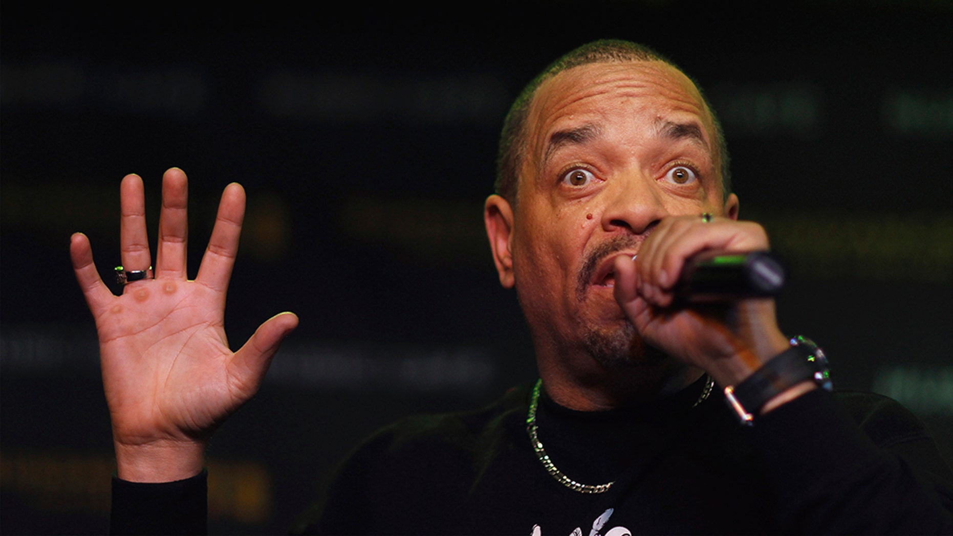 Ice-T, pictured here in 2012, was arrested on Wednesday in New York City for evading a toll bridge.