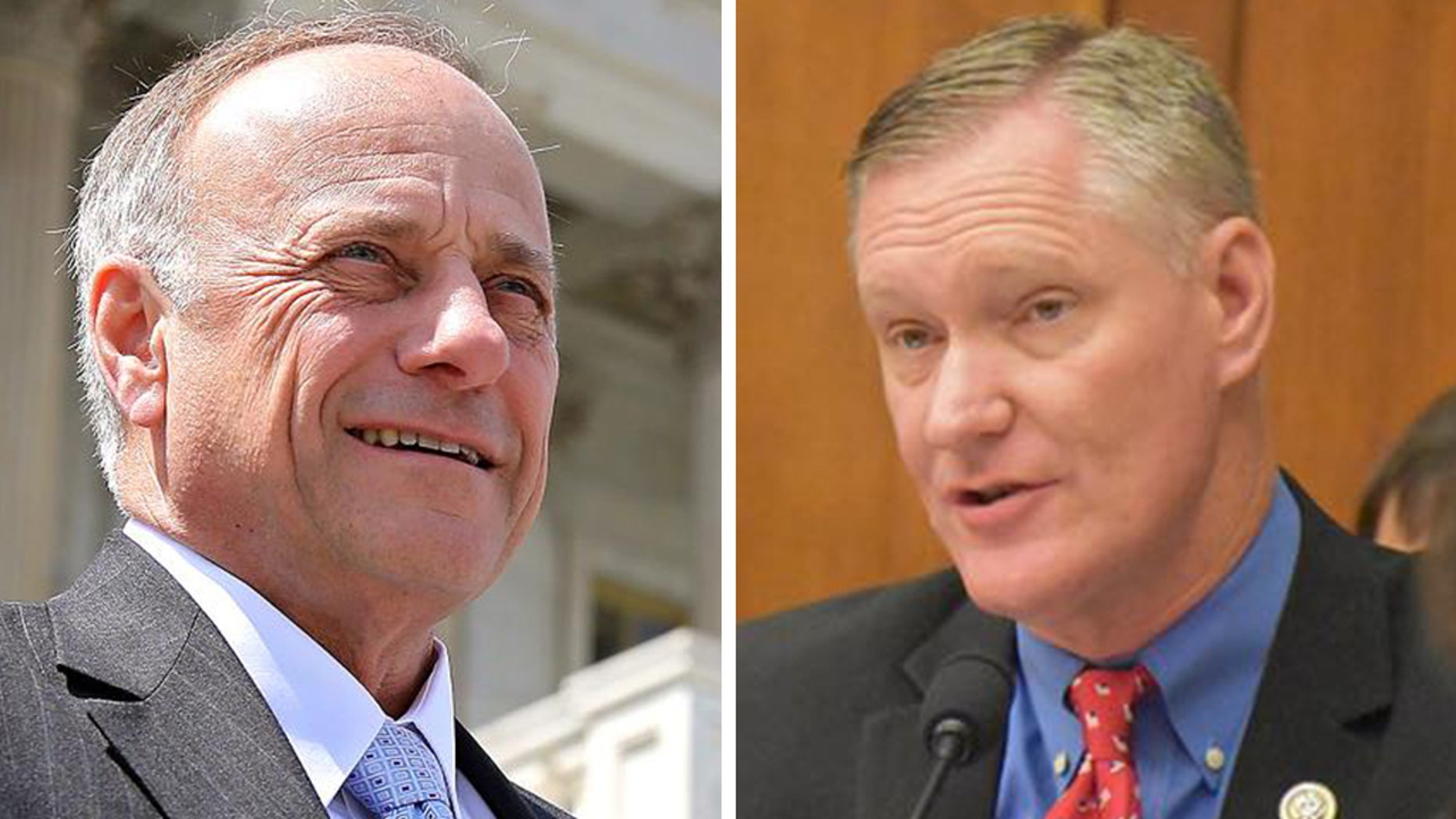 Rep. Steve King, Iowa's 4th congressional district, Republican and Rep. Steve Stivers, Ohio's 15th congressional district, Republican.