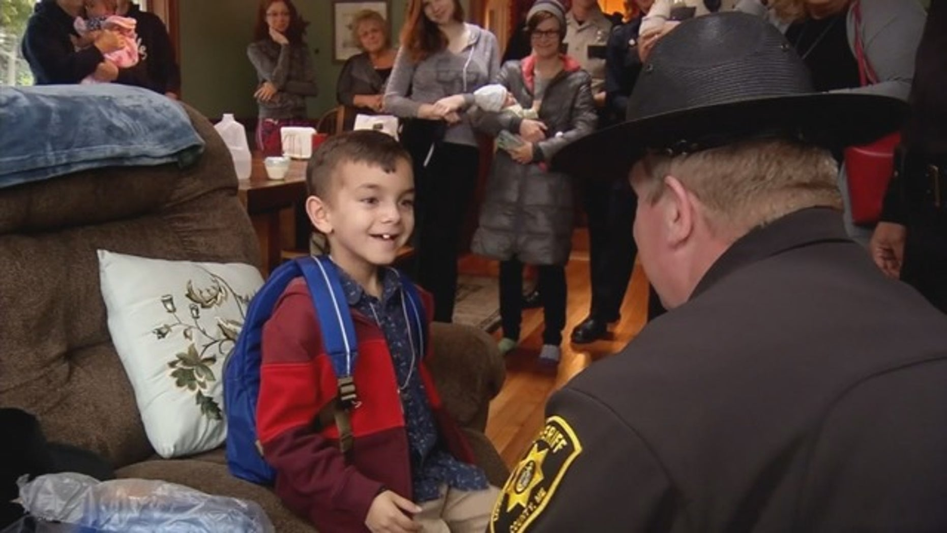 Liam, who was diagnosed with high-grade glioma last year, dreams of becoming a police officer one day.