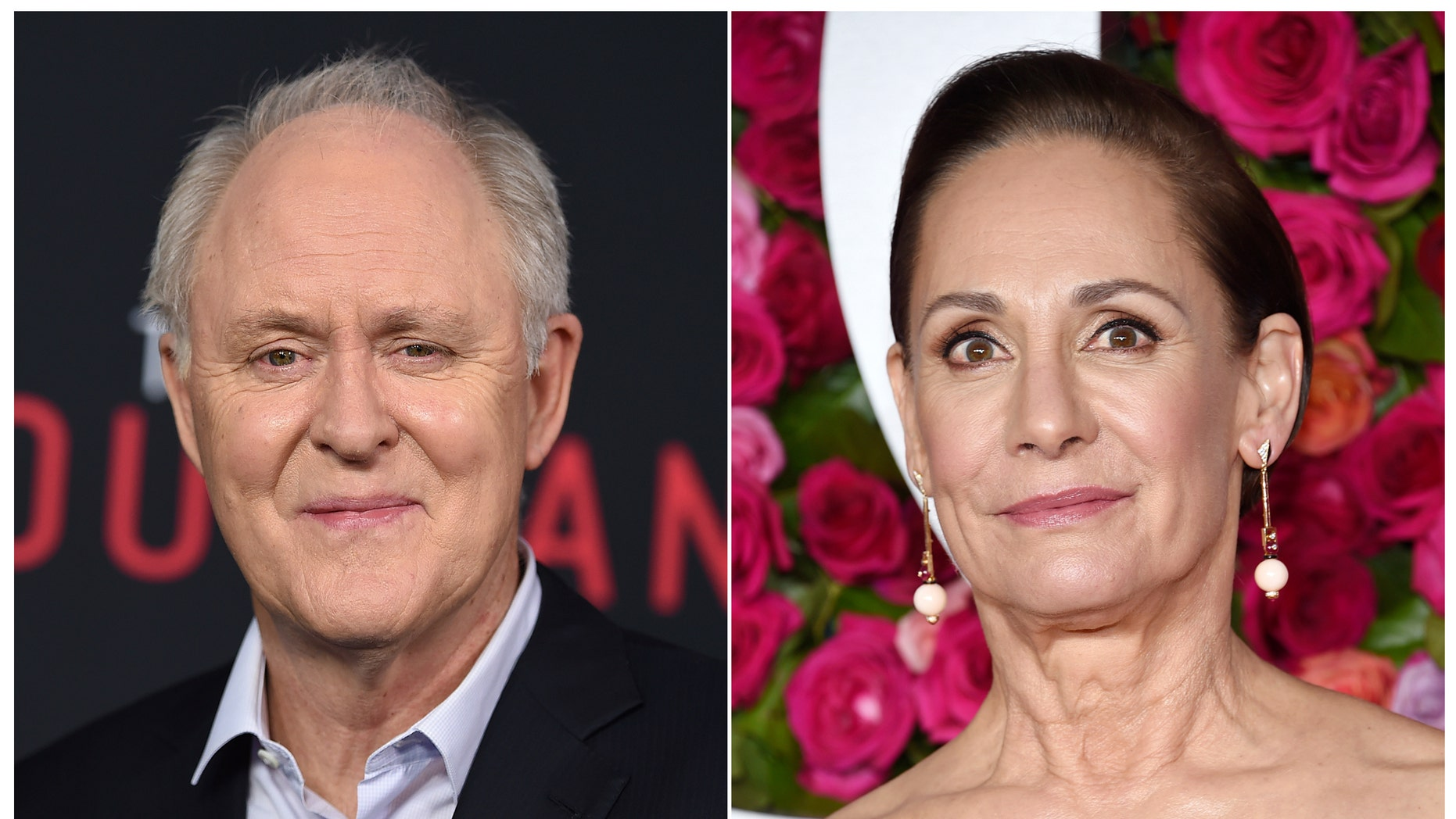 John Lithgow, left, and Laurie Metcalf will play the roles of former President Bill Clinton and Hillary Clinton in a new Broadway play.