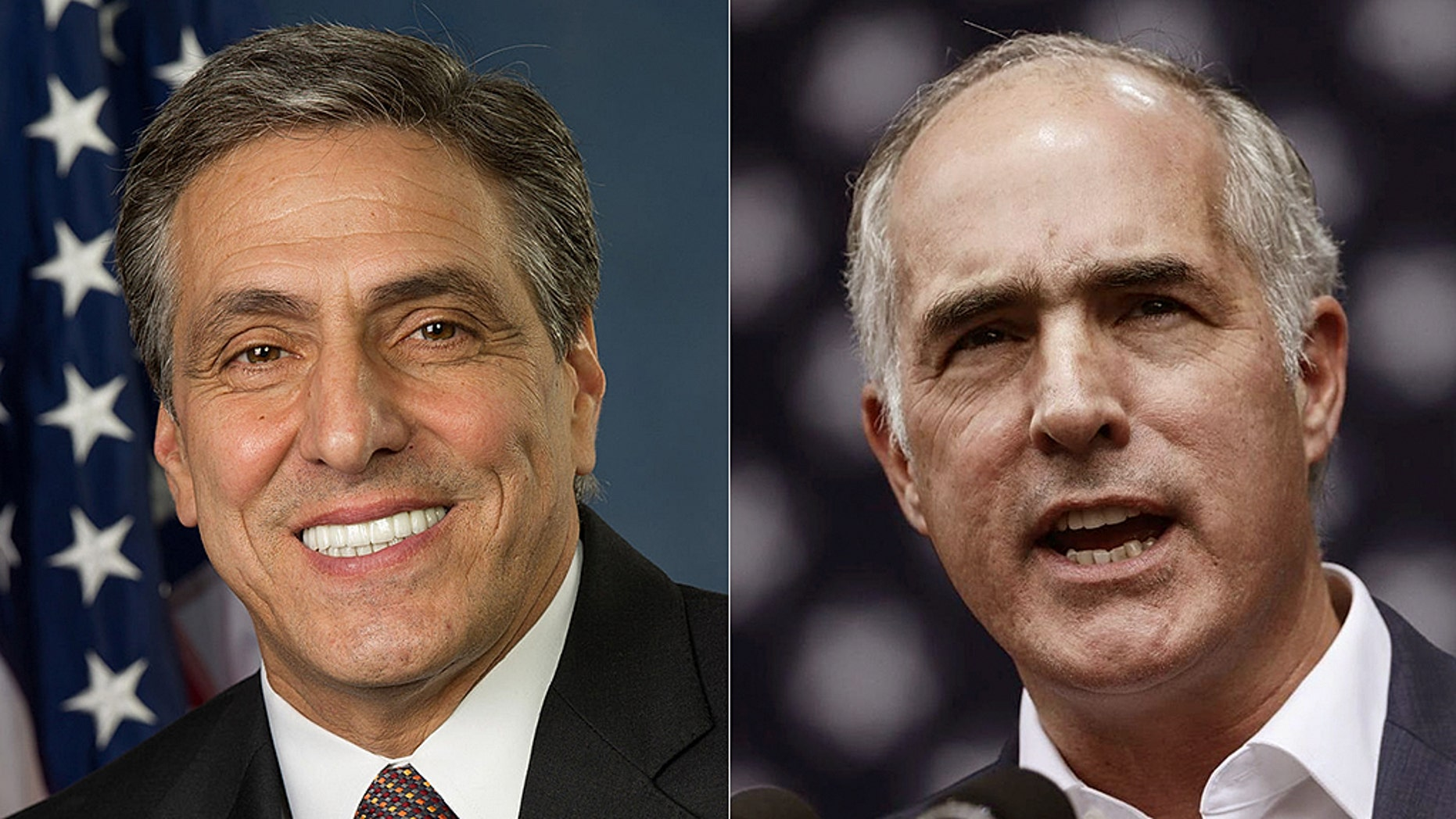 "Republican Senate nominee Lou Barletta (left) has criticized Democratic Sen. Bob Casey (right) for an ""insensitive"" campaign ad that seemed to draw parallels to his 18-month-old grandson's cancer diagnosis. Casey's campaign has agreed to remove the ad from Barletta's home market."