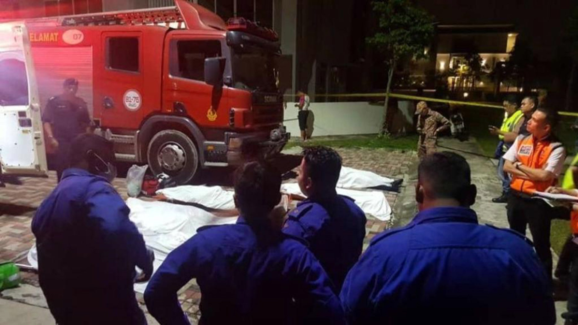 Six rescuers drowned in Malaysia Wednesday while trying to rescue a teen who fell into an abandoned mining pool.