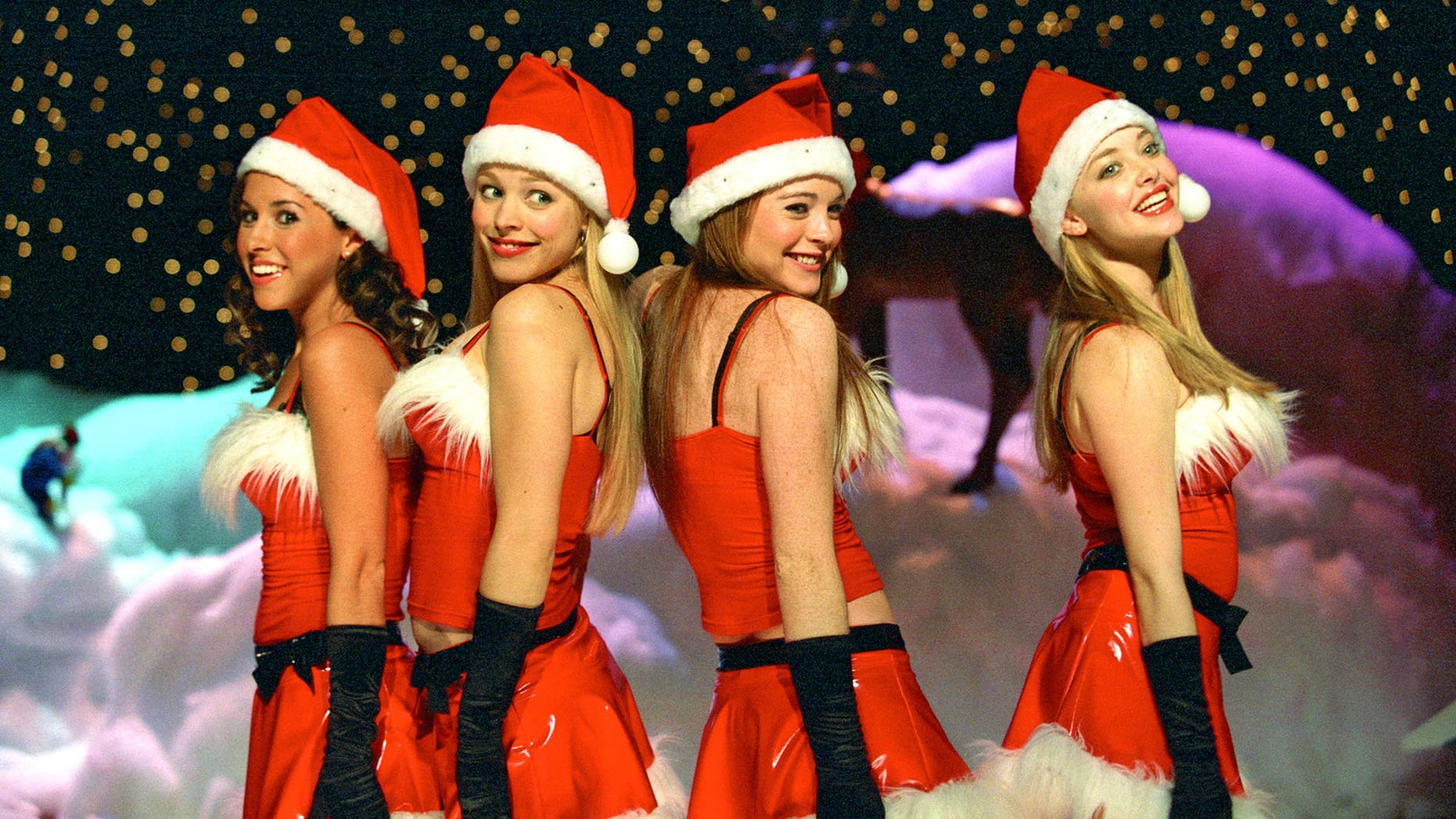 The parents dubbed the group who targeted the boy with false sexual assault allegations 'mean girls', referencing the 2004 movie starring Lindsay Lohan [second from right)