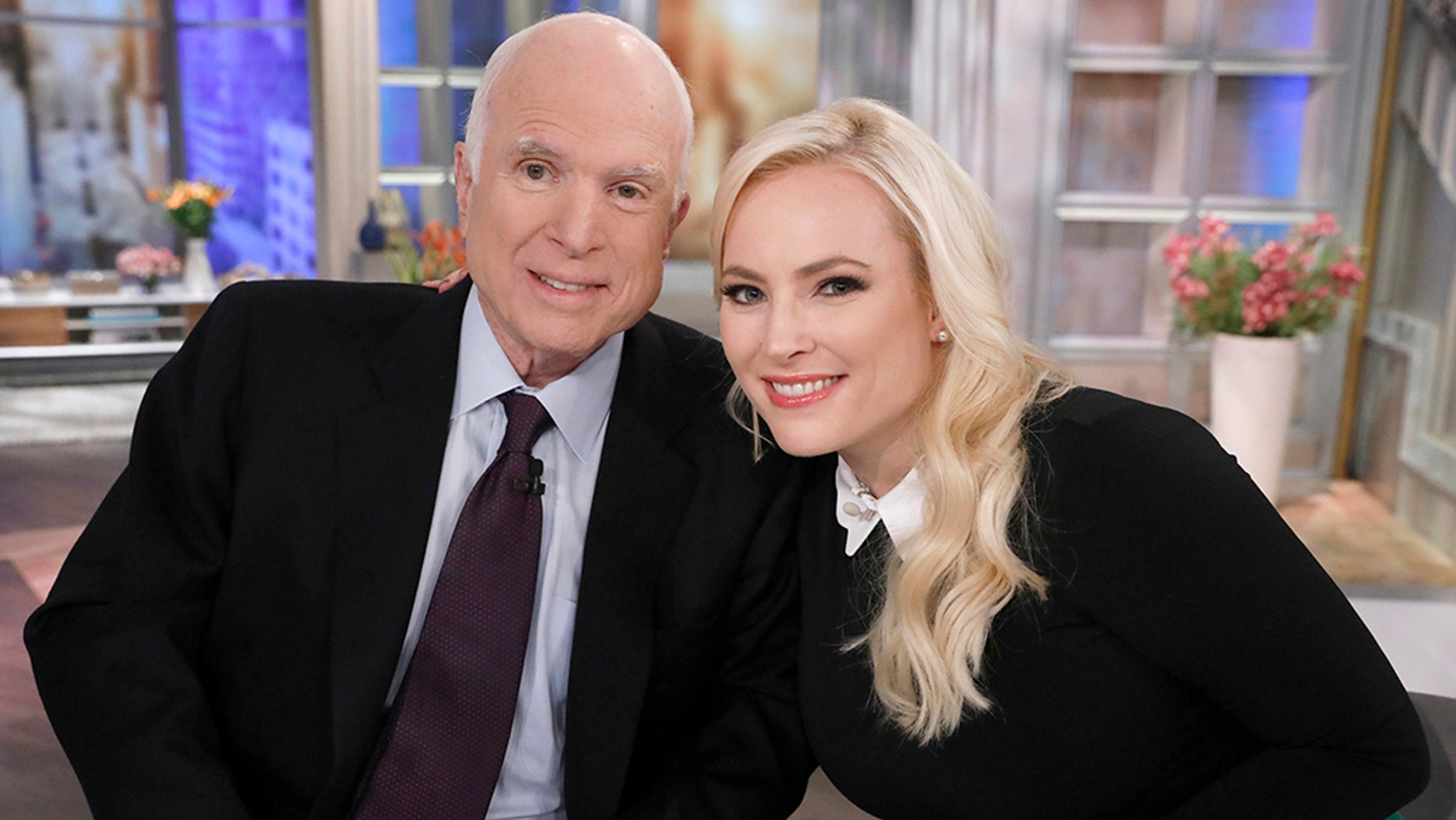 Meghan McCain with her late father John McCain in 2017.