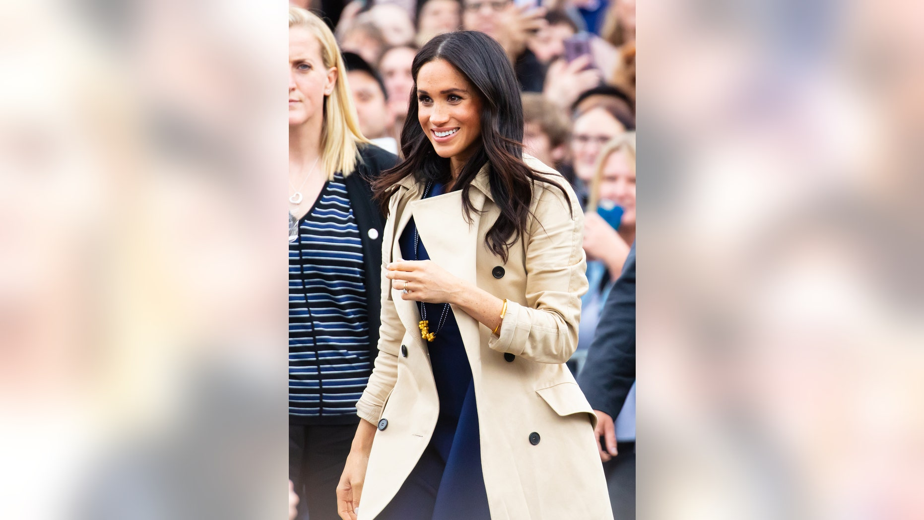 Markle's macaroni necklace was THE necklace of Oct. 18, 2018.