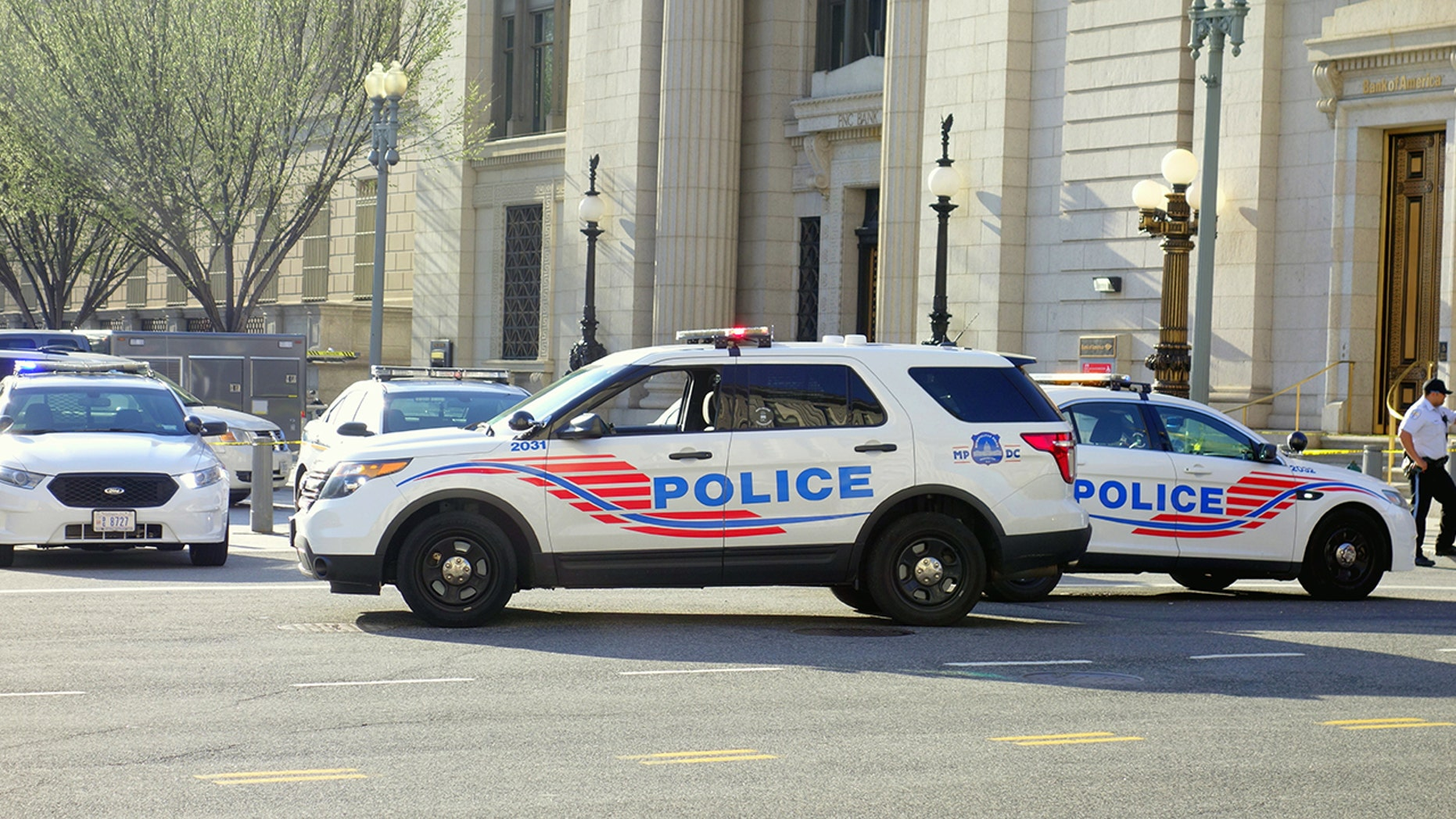 Metropolitan police in Washington, D.C. said a woman was reportedly doused with gasoline and set on fire while trying to break up a fight.