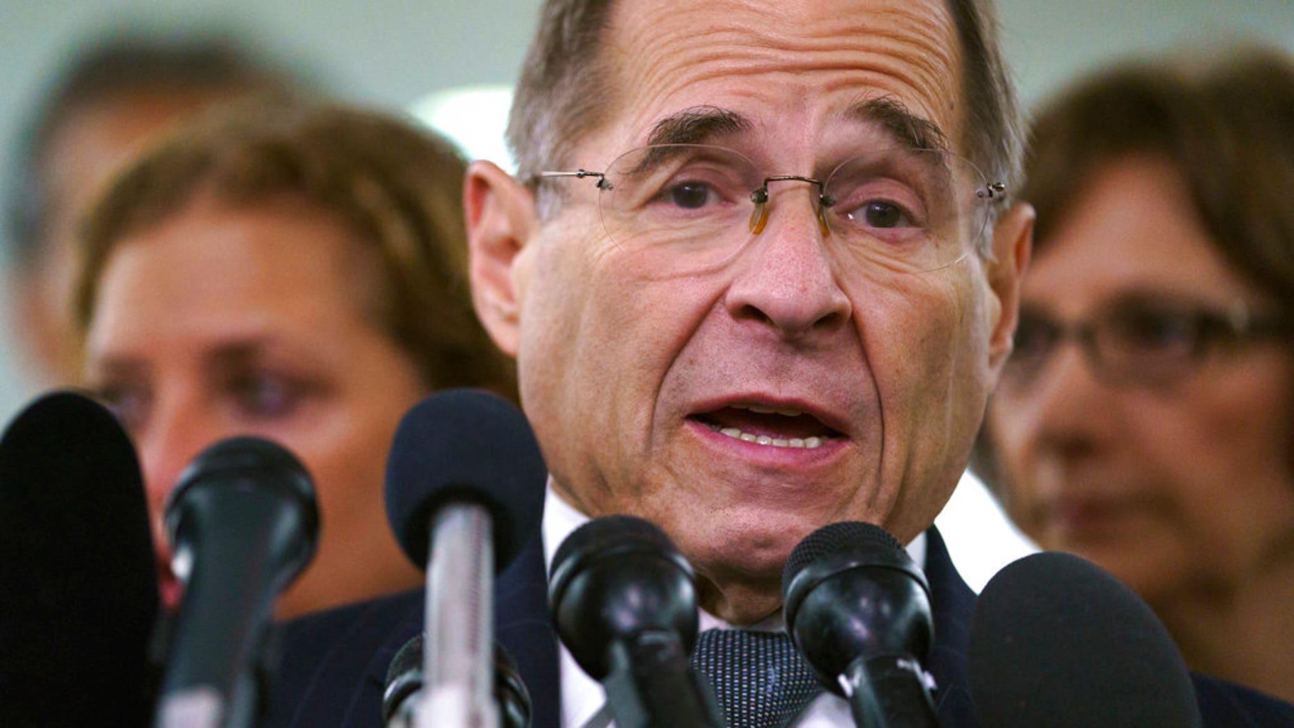 House Judiciary Committee ranking member Jerry Nadler, D-N.Y. (AP Photo/Carolyn Kaster)