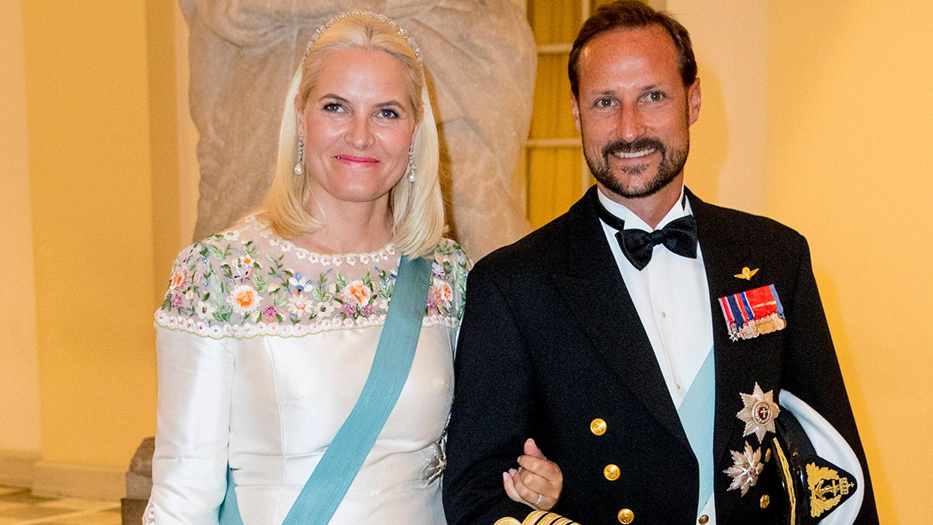 Crown Princess Mette-Marit has revealedchronic lung diseasediagnosis. Here she attends the gala banquet on the occasion of The Crown Prince's 50th birthday at Christiansborg Palace Chapel on May 26, 2018 in Copenhagen, Denmark. (Photo by Patrick van Katwijk/Getty Images)