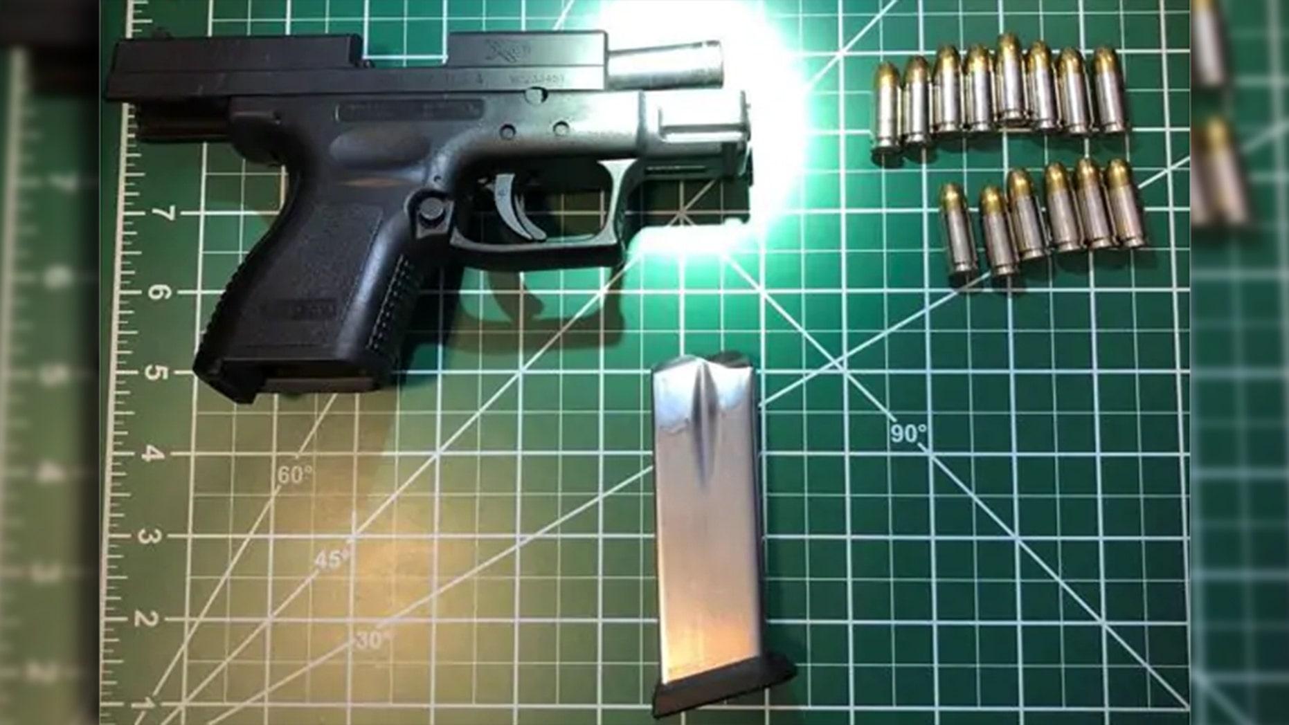 TSA screeners detected this loaded 9 mm handgun at a Reagan Airport checkpoint Oct. 16.