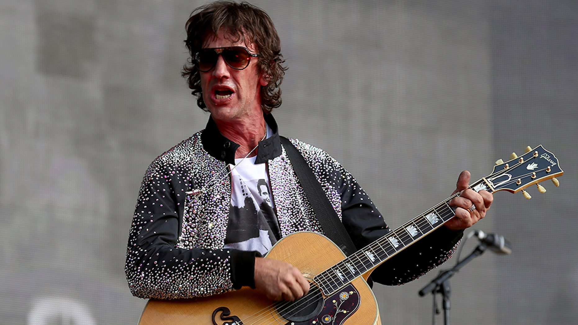 Richard Ashcroft performs live on The Great Oak Stage during Barclaycard present British Summer Time Hyde Park at Hyde Park on July 6, 2018 in London, England.