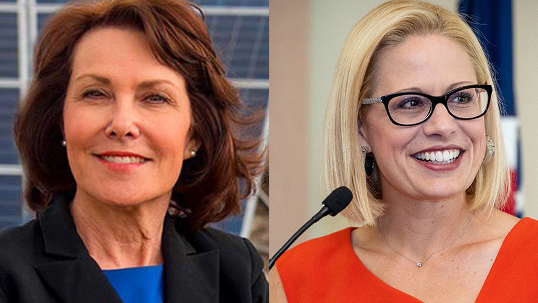 Democratic Senate candidates Jacky Rosen, left, and Kyrsten Sinema are among those enjoying a windfall of outside donations.