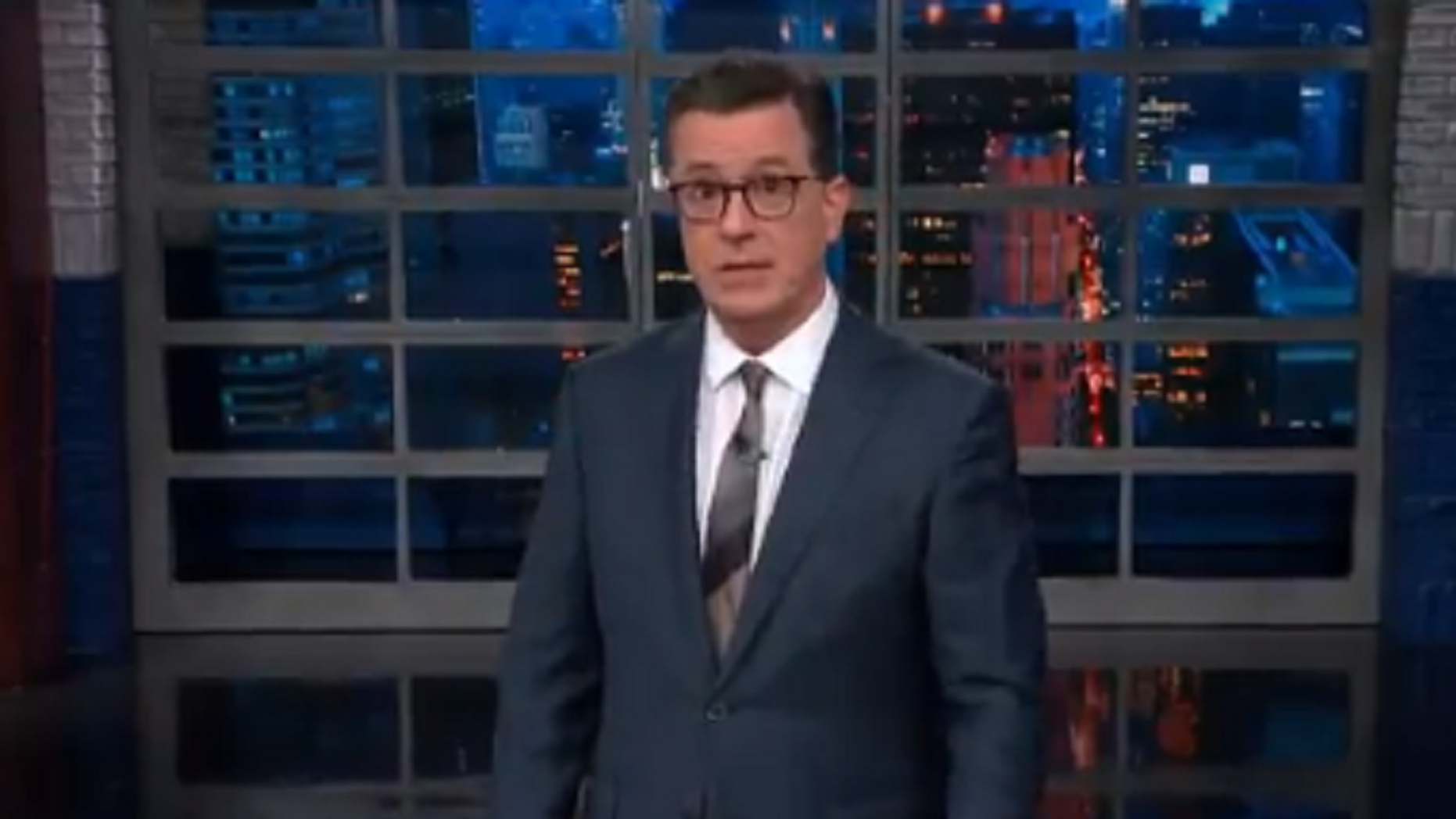 'Late Show' host Stephen Colbert poked fun at a the midterm elections during his show Monday.