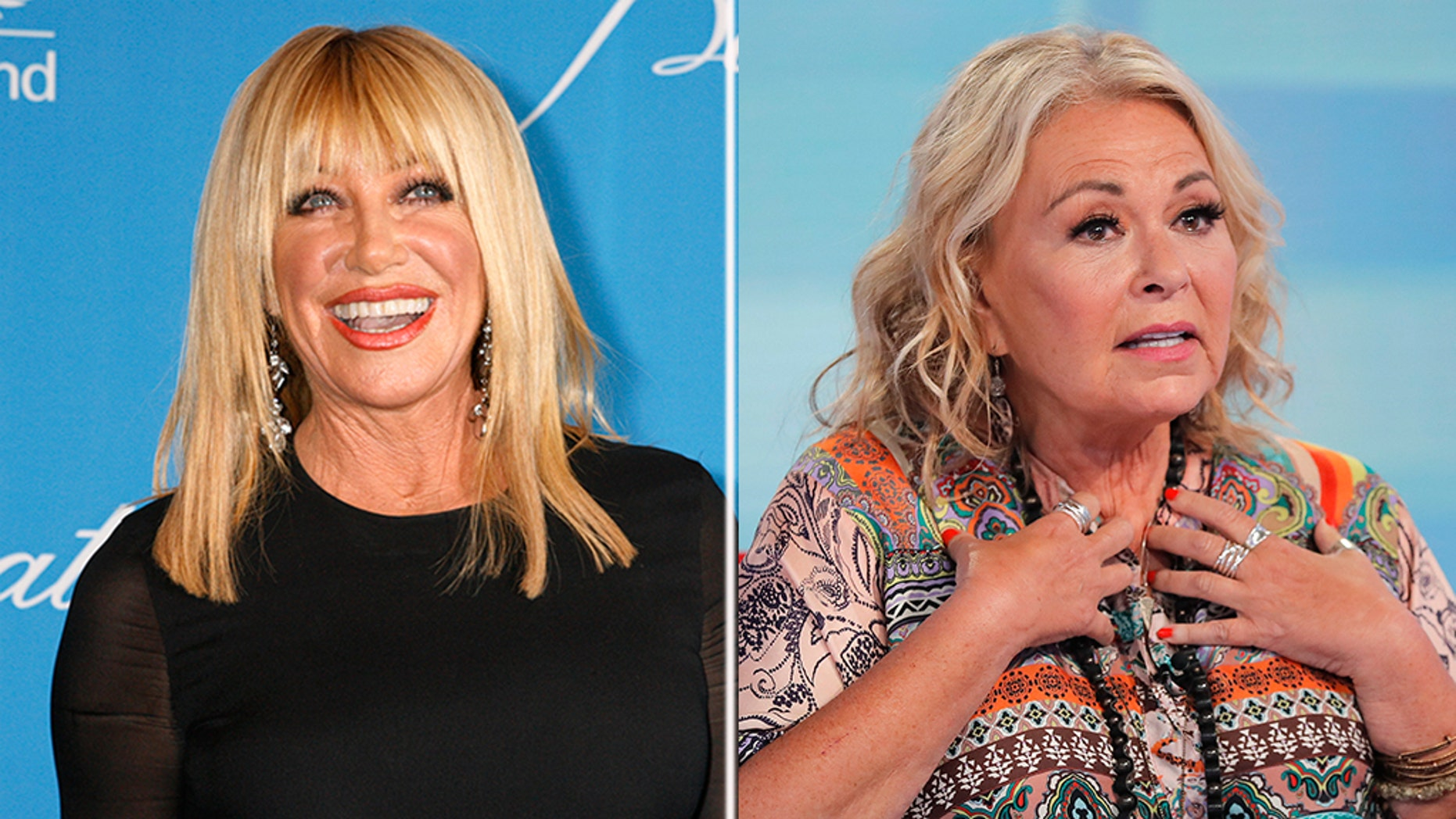 Suzanne Somers weighs in with Roseanne Barr's shelling of ABC in a new interview with Yahoo Entertainment released Tuesday.
