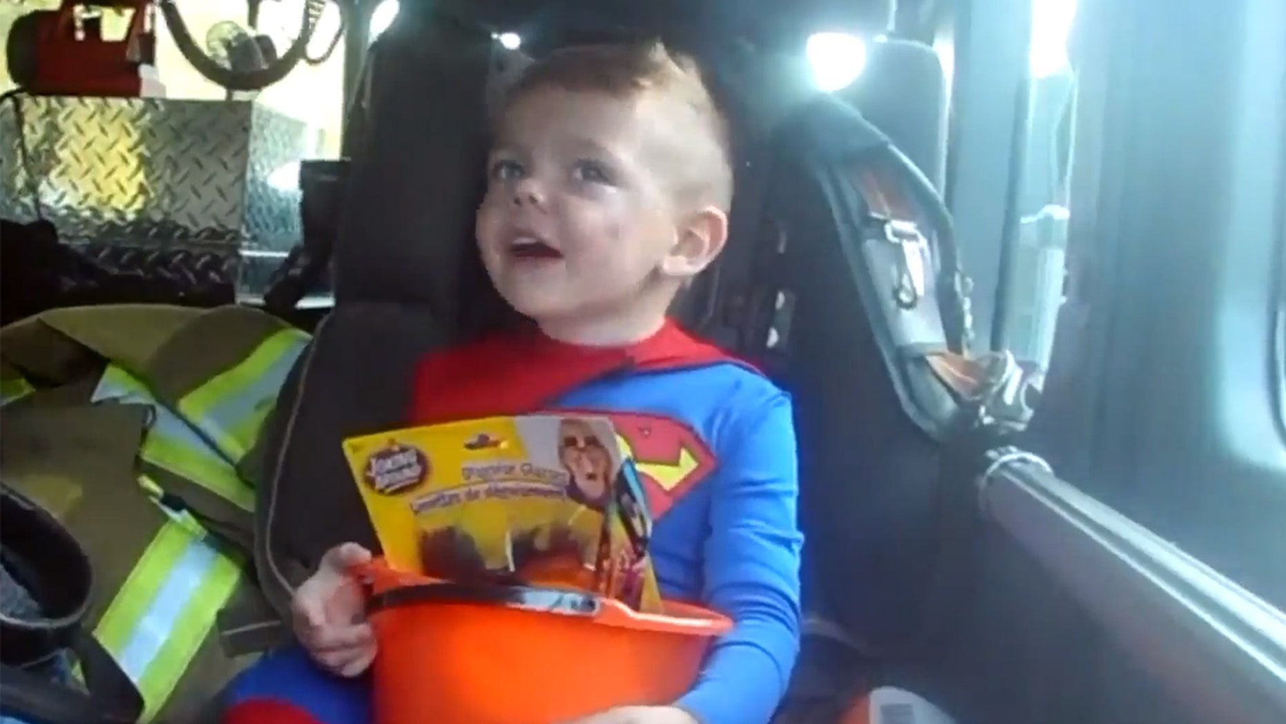 Sonny's favorite holiday came a week early and included a ride in a fire truck after residents in one Illinois neighborhood found out that he'd be sidelined during next week's festivities due to an upcoming surgery.