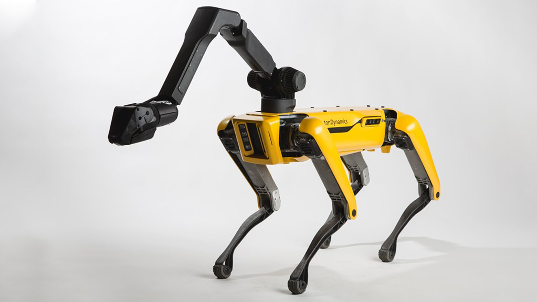 """A newly released clip features Boston Dynamics' """"SpotMini"""" robot dancing to music."""