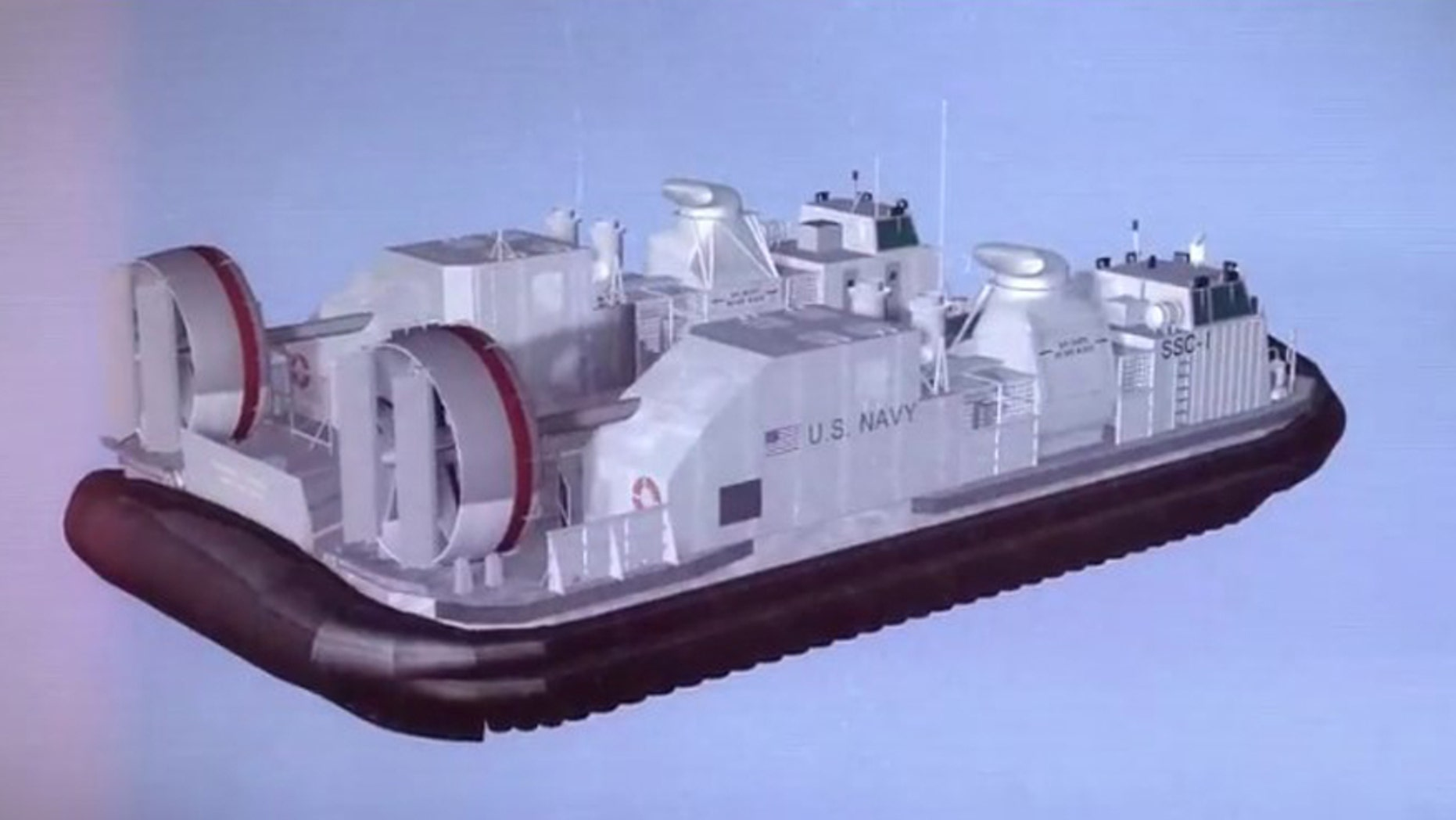 Artist's impression of the U.S. Navy's first newly built Ship-to-Shore Connector maritime warfare craft