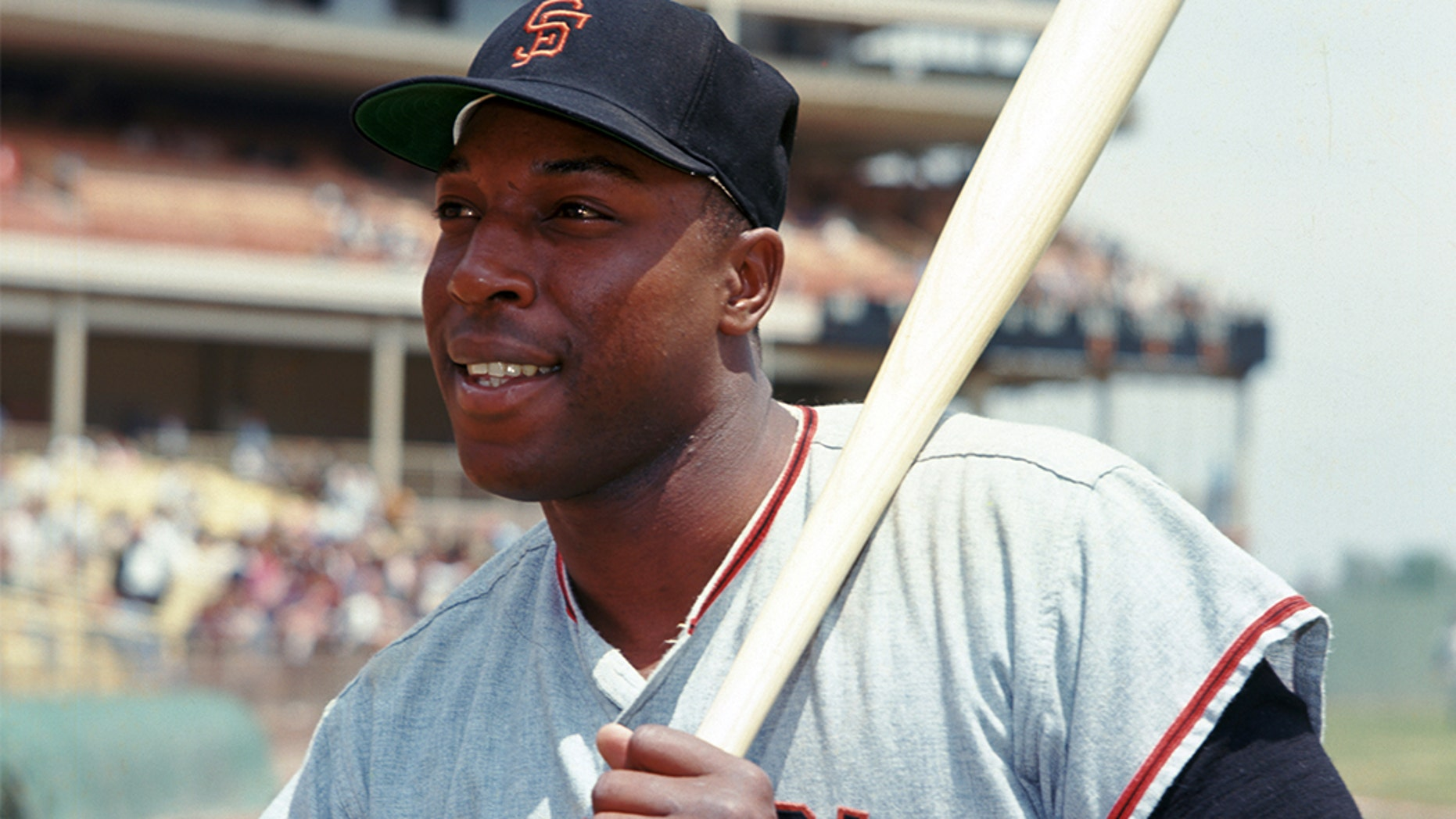 San Francisco Giants Willie McCovey (4) portrait from his 1964 season with the San Francisco Giants. Willie McCovey played for 22 years with 3 different teams, was a 6-time All-Star, 1969 National League MVP and was inducted to the Baseball Hall of Fame in 1986. (David Durochik via AP)