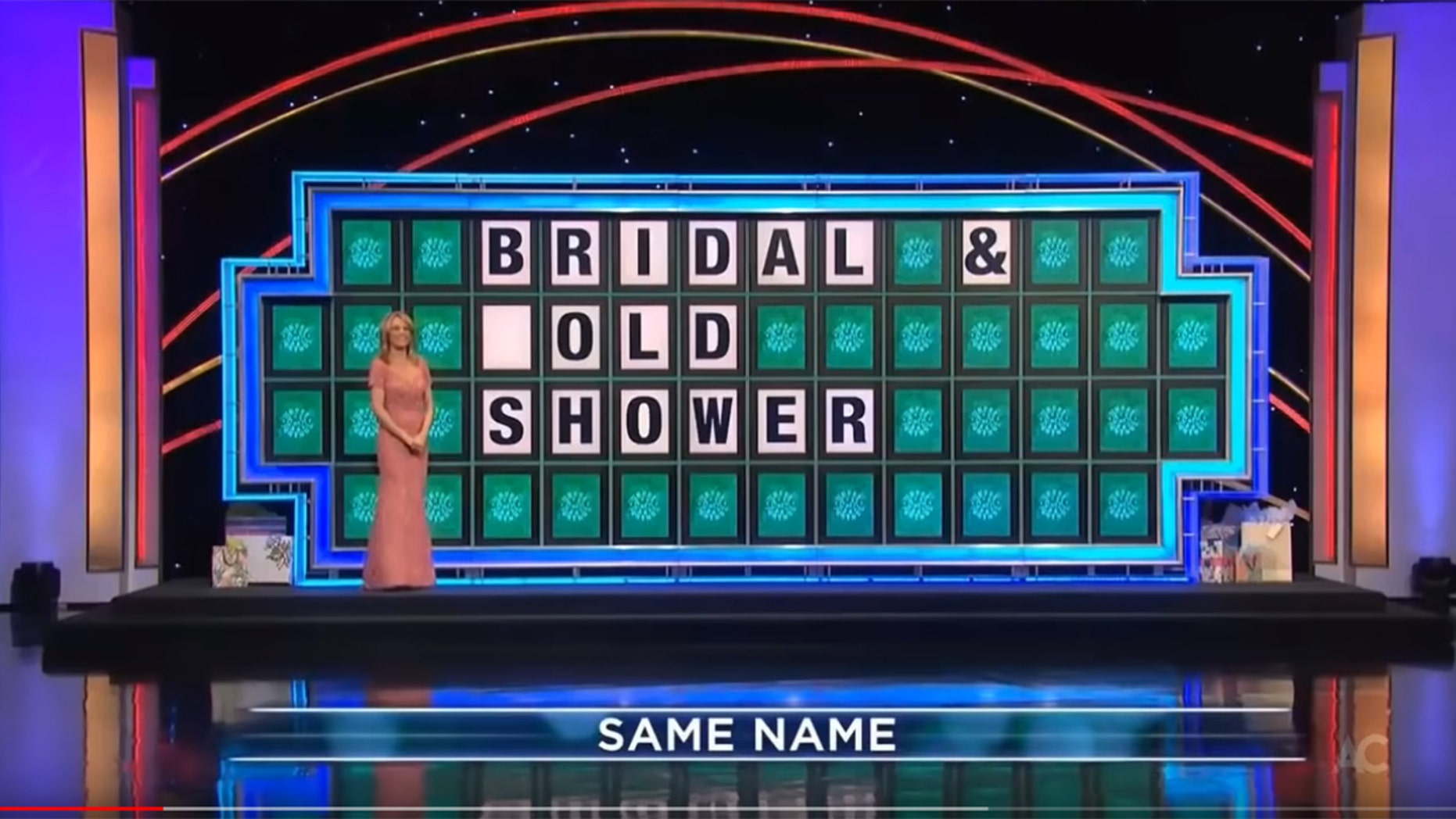 """A """"Wheel of Fortune"""" contestant guessed the wrong letter to her puzzle, which turned into an awkward answer during the show."""