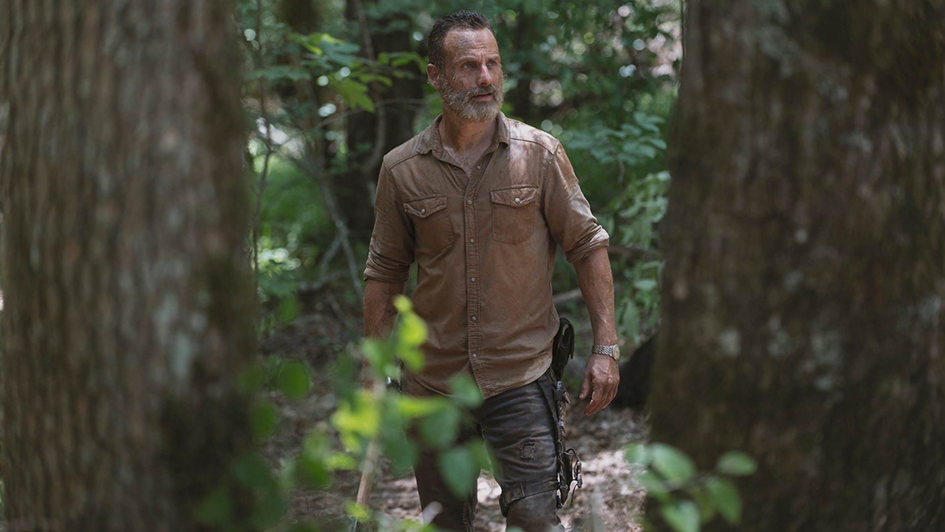Andrew Lincoln as Rick Grimes in 'The Walking Dead' Season 9, Episode 4.