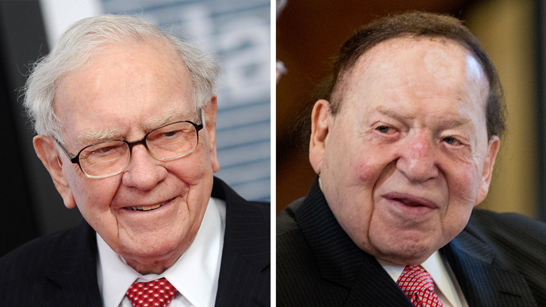 Warren Buffett, left, has engaged in a political fight withSheldon Adelson over Nevada's energy.