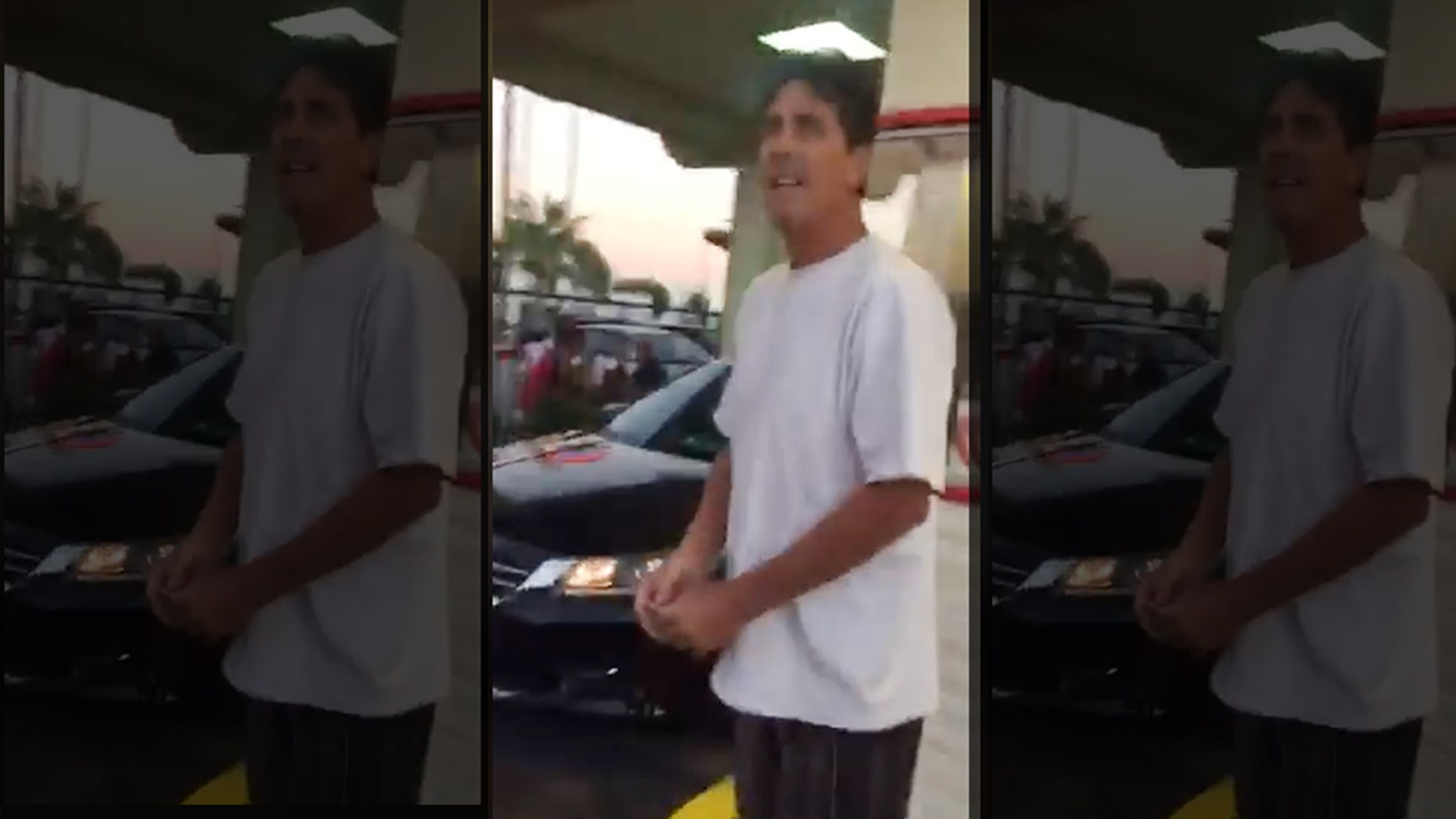 "Police in California are looking for this man, who allegedly assaulted a special-needs man for ""not moving quickly enough"" after placing an order for fast food on Sept. 17."