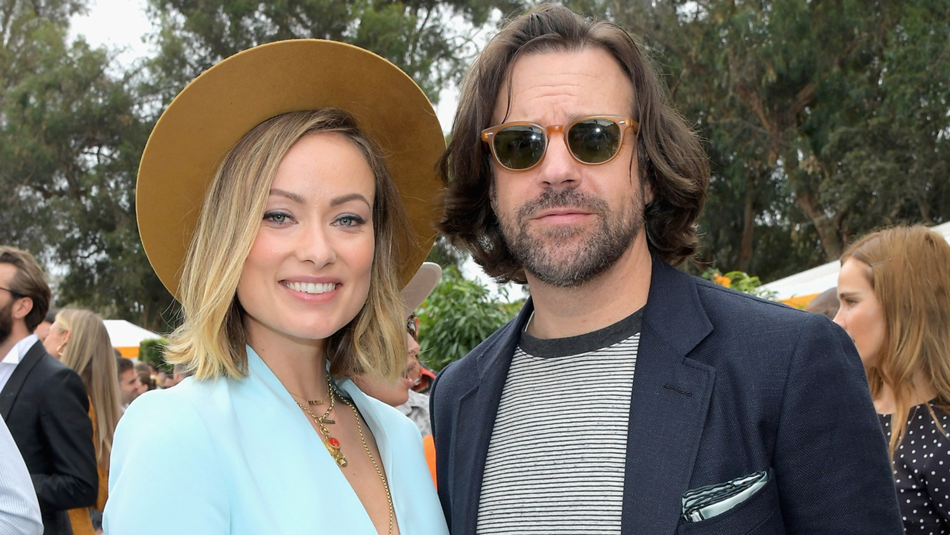 Olivia Wilde and Jason Sudeikis appeared at a campaign event for her mother.