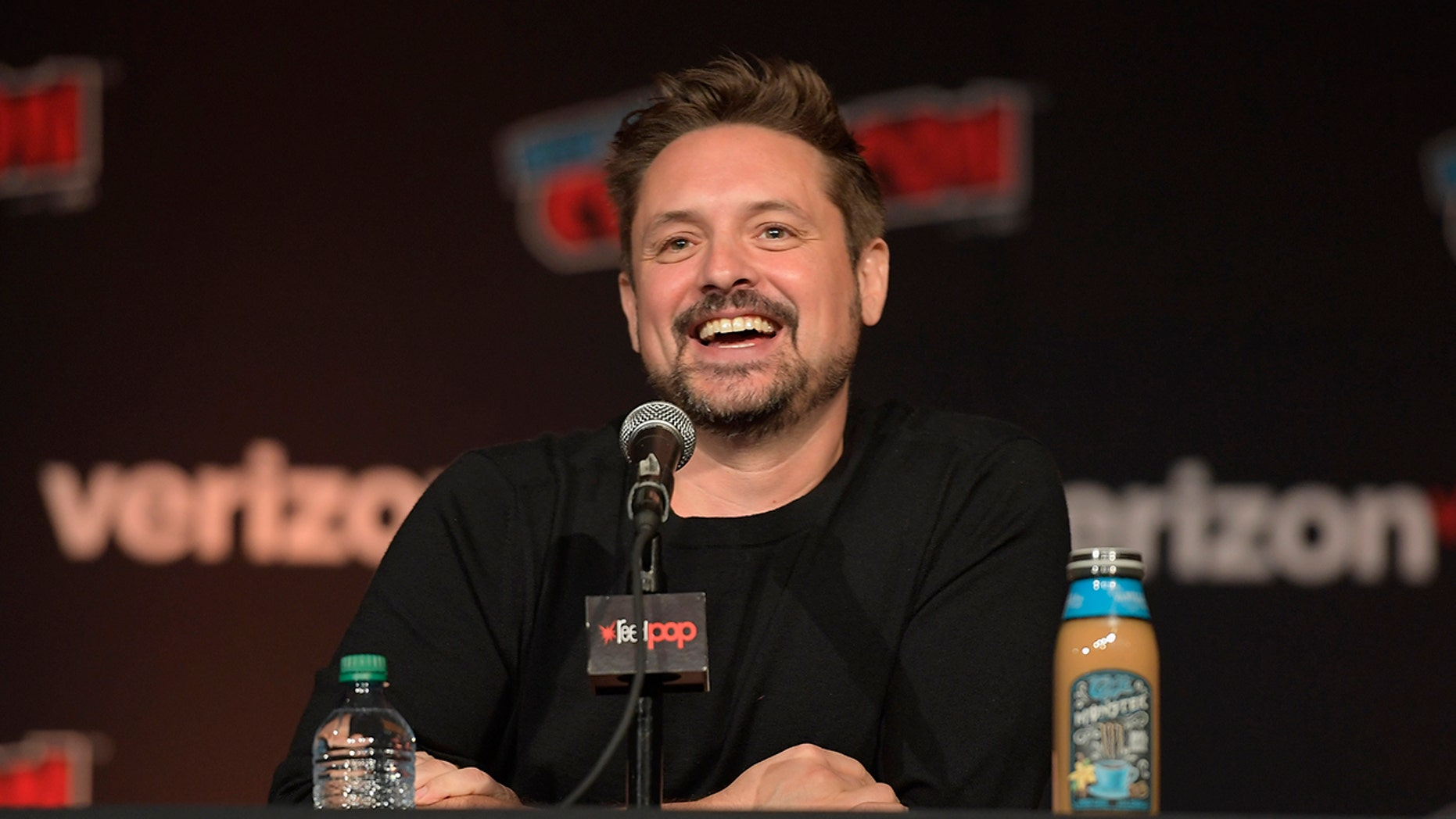 Will Friedle speaks onstage at the 'Boy Meets World' 25th Anniversary Reunion Panel during the New York Comic Con 2018.