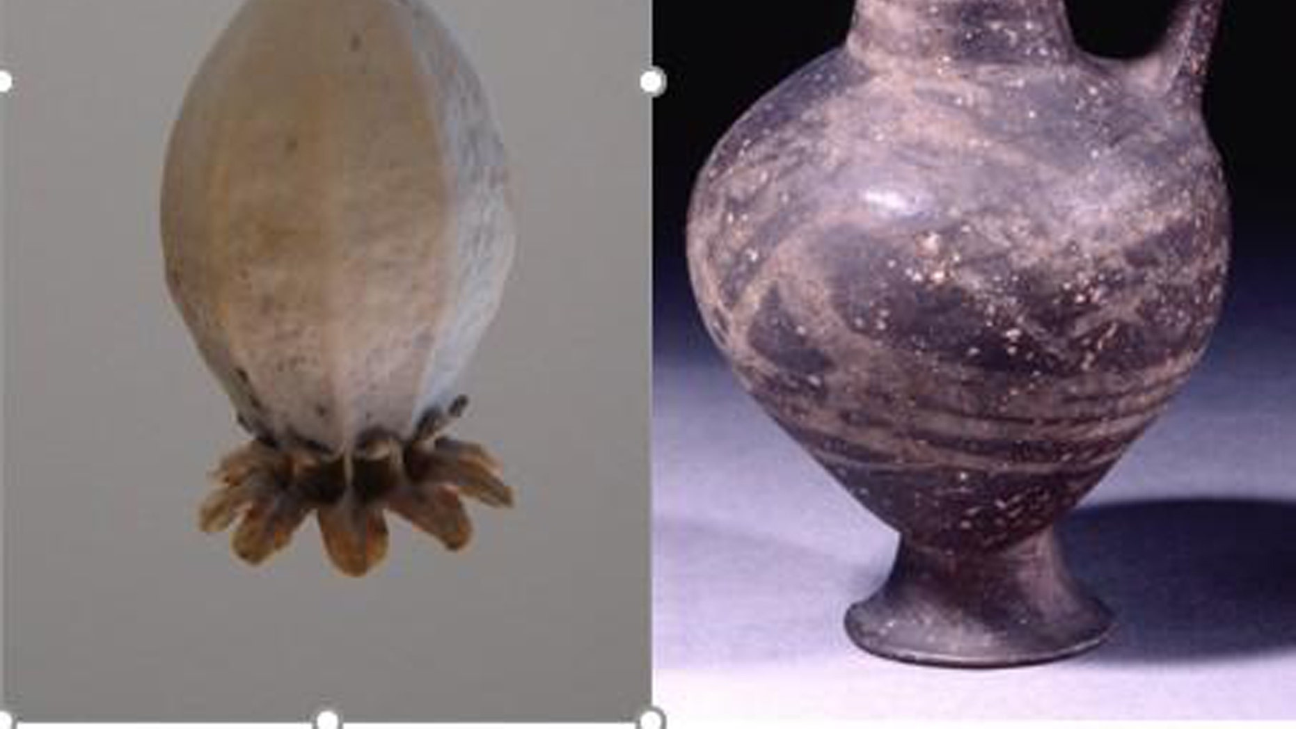 The base-ring juglet resembles the seed head of an opium poppy. (Credit: British Museum)