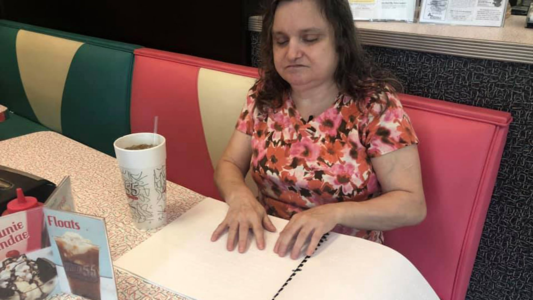 A restaurant in West Virginia created a braille menu for one its regular customers who is blind.