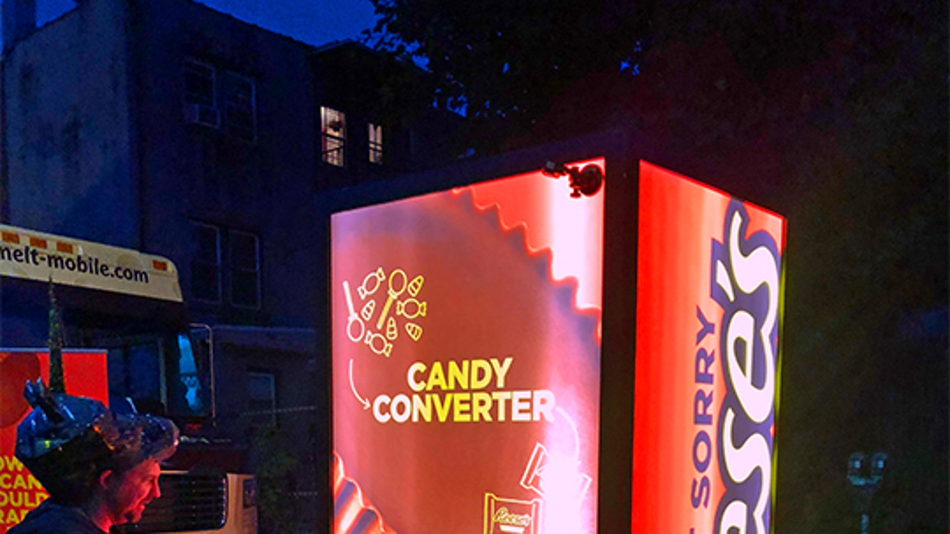 Swap out your unwanted candy for a Reese's with their candy converter.