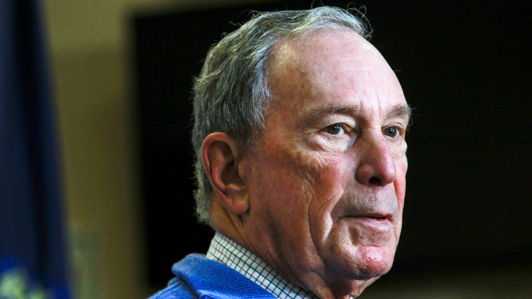 Former New York City Mayor Michael Bloomberg speaks at a Moms Demand Action gun safety rally at City Hall in Nashua, N.H., in an undated photo.