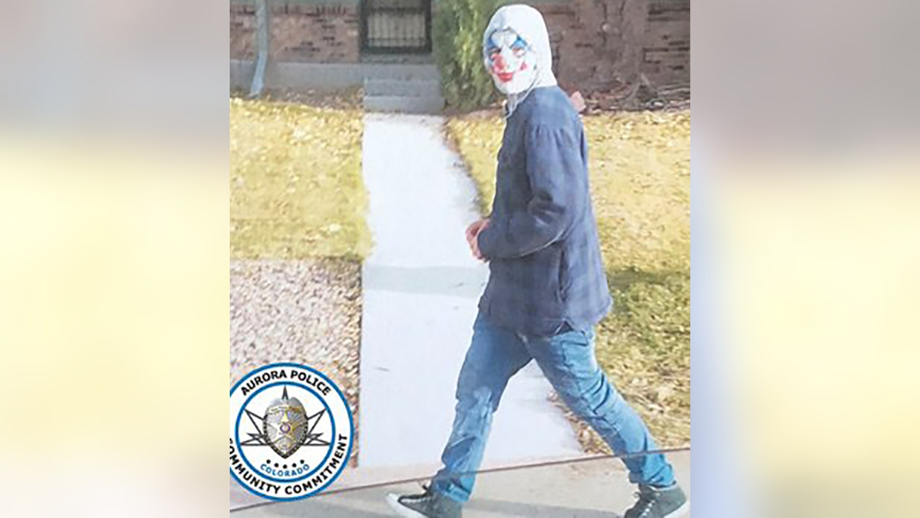 A unidentified juvenile in a clown mask was scaring students from a Colorado middle school as they walked home from school this week. He later was caught by the school's principal but wasn't charged, authorities say.