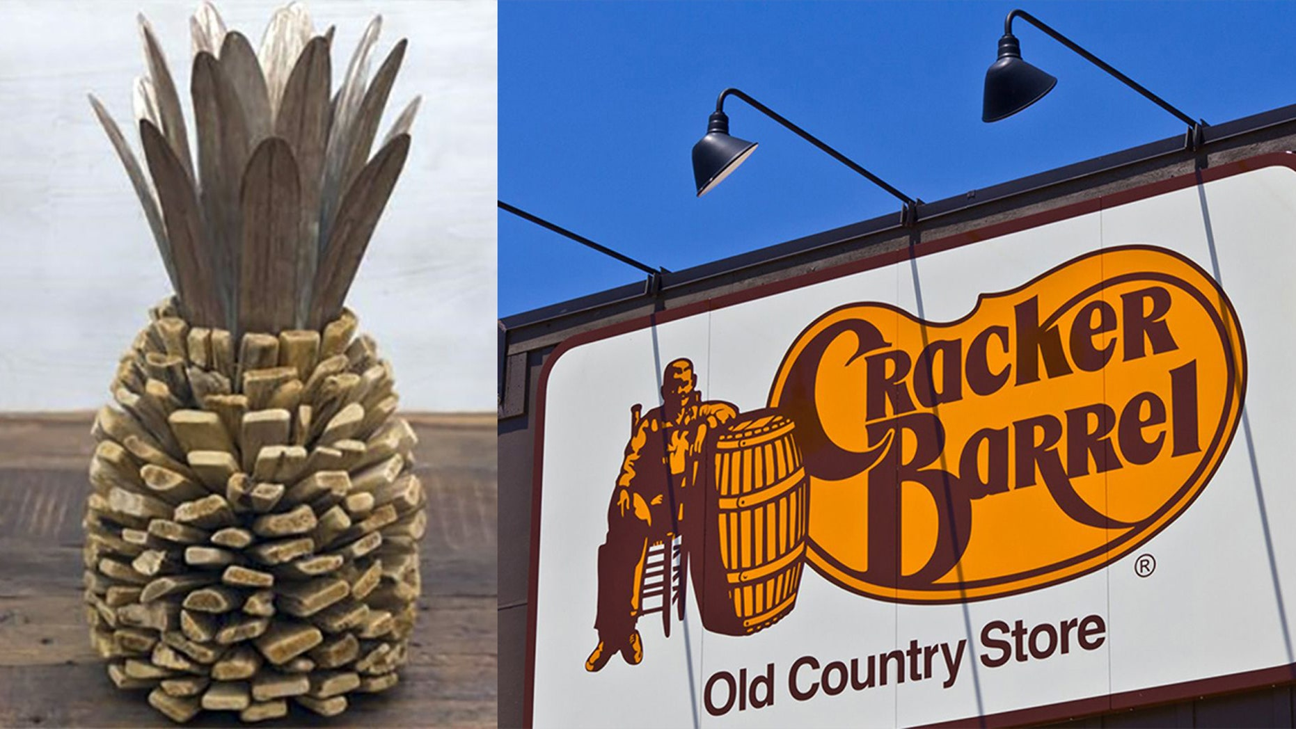 "Cracker Barrel is asking that consumers immediately stop using their ""decorative driftwood pineapples"" and return them to any Cracker Barrel Old Country Store for a full refund."